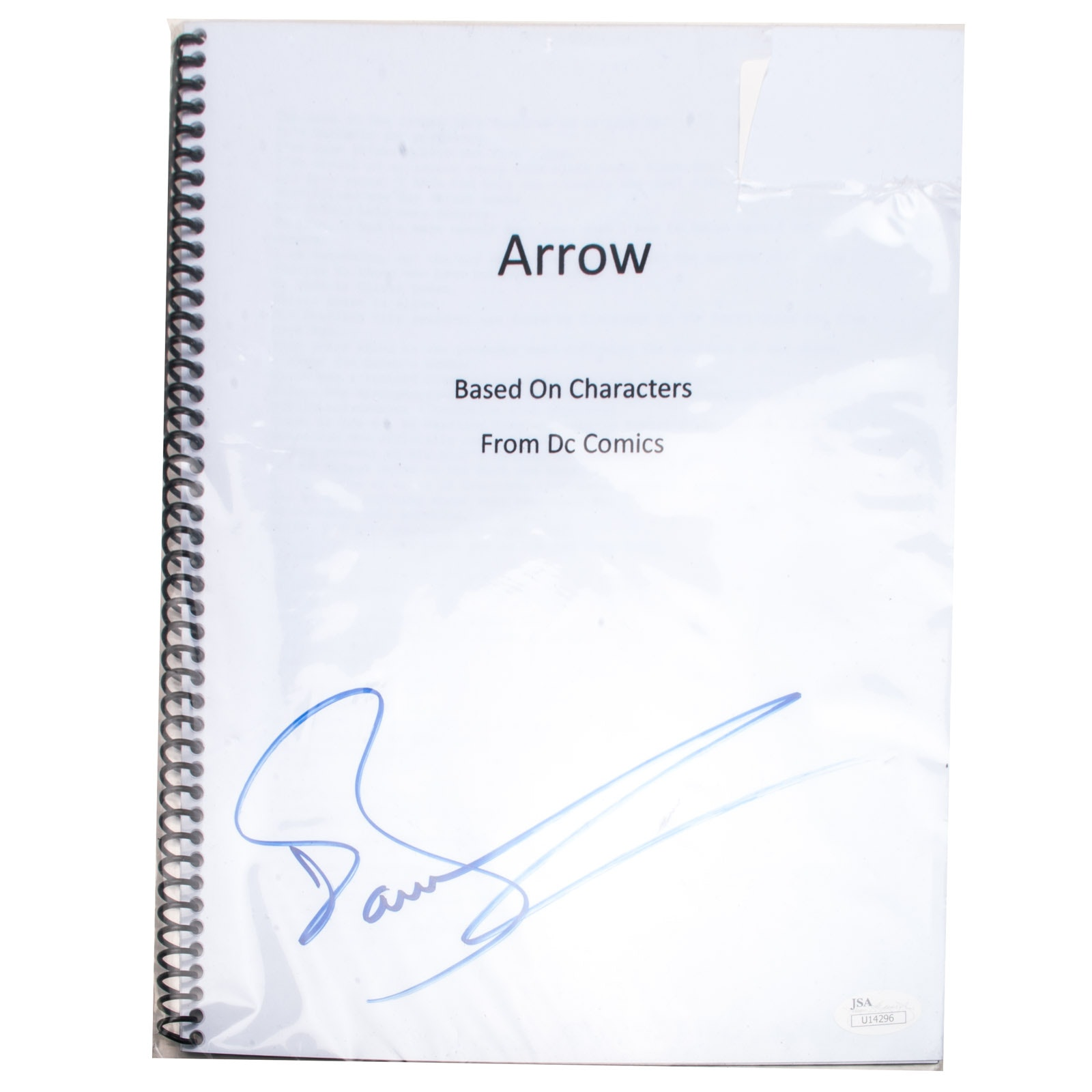 "John Barrowman Signed ""Arrow"" Script  COA"