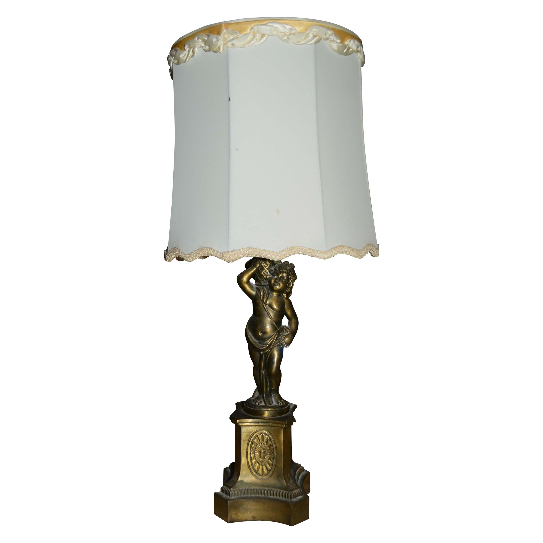 Figural Brass Tone Lamp