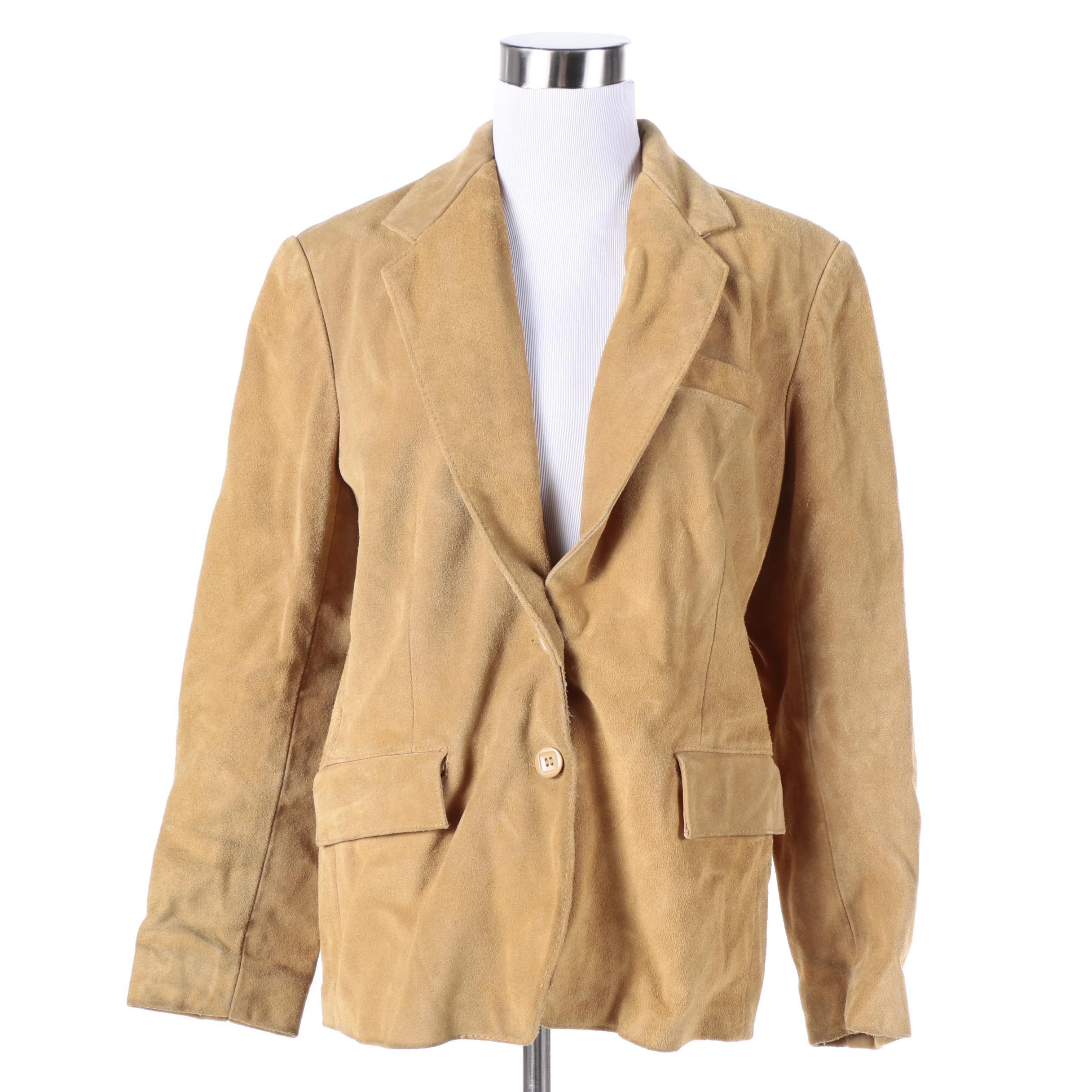 Women's Vintage Carla Tan Suede Jacket