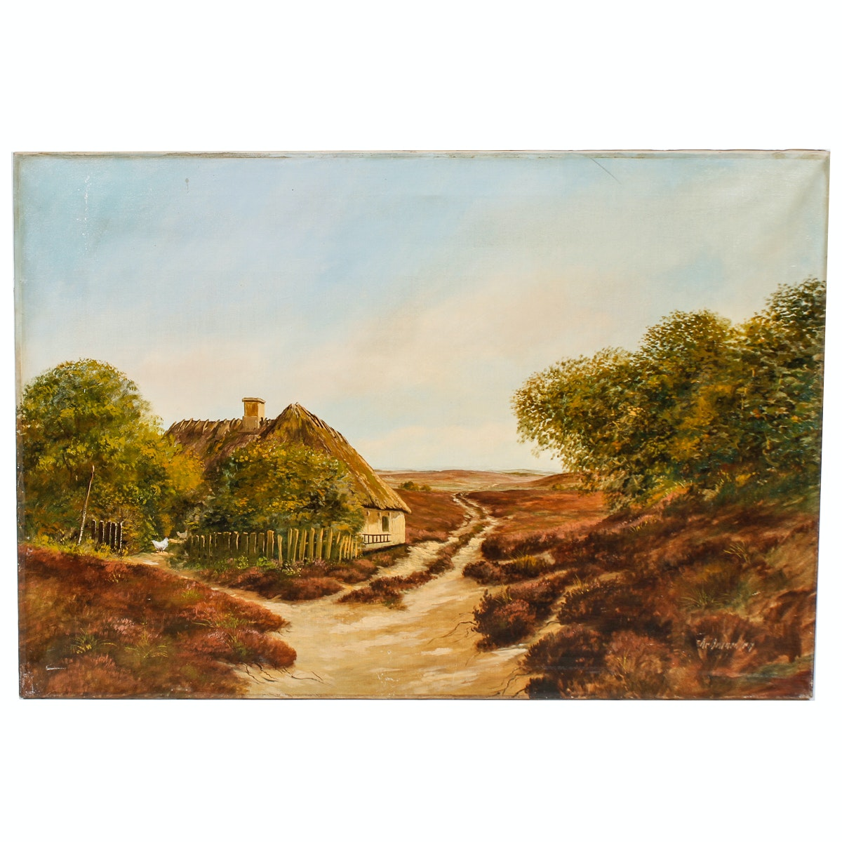 Oil Painting of a Rural Landscape