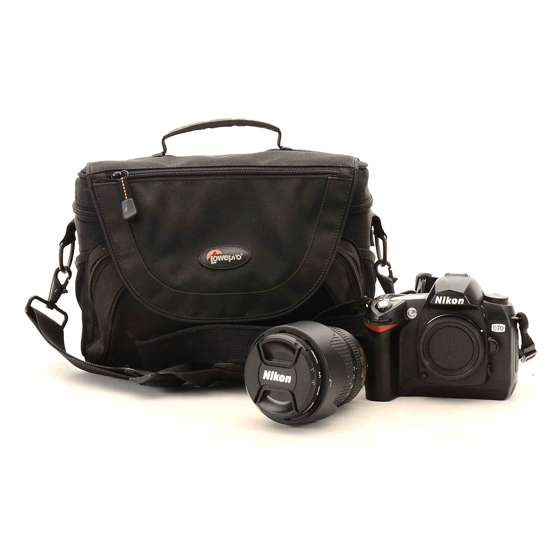 Nikon D70 Digital SLR Camera with Case