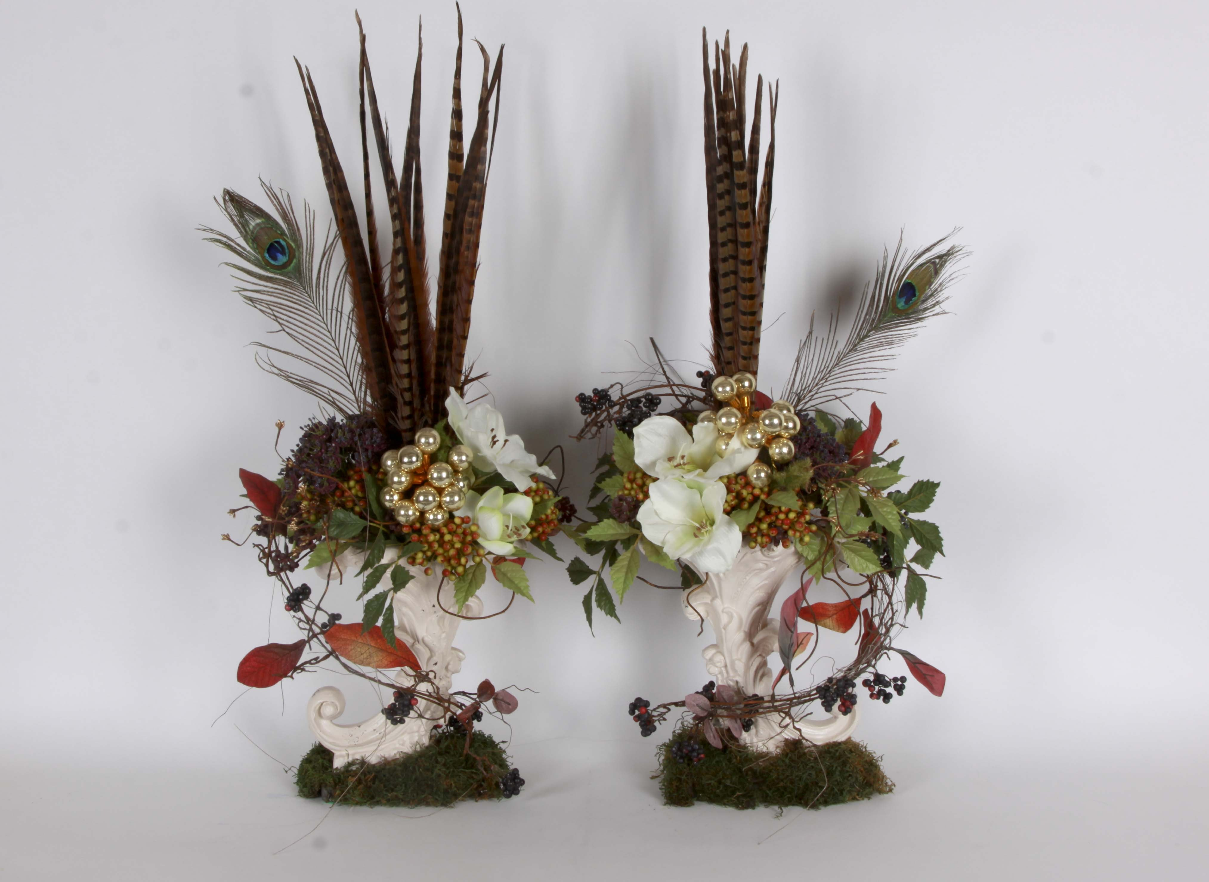 Pair of Floral Arrangements