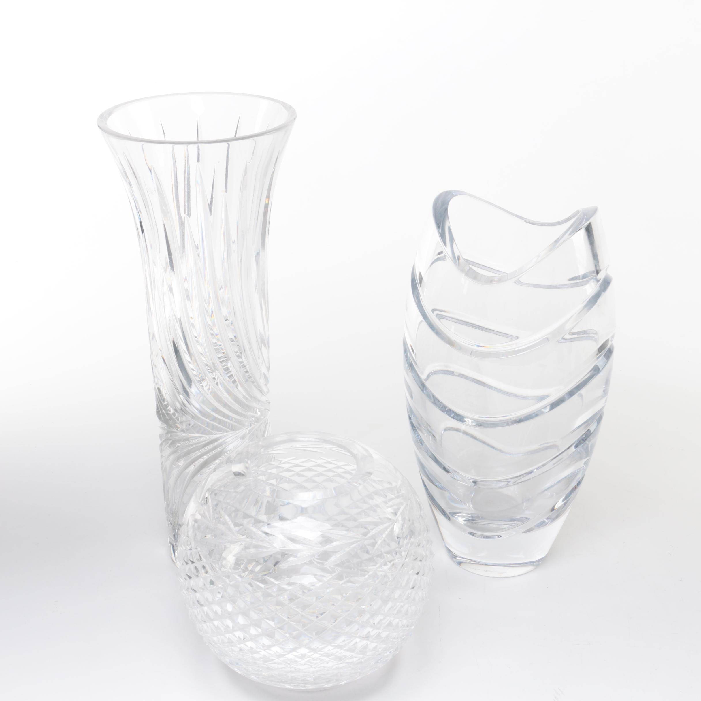 "Waterford Crystal ""Glandore"" Rose Bowl and Rosenthal ""Symmetry"" Vase"