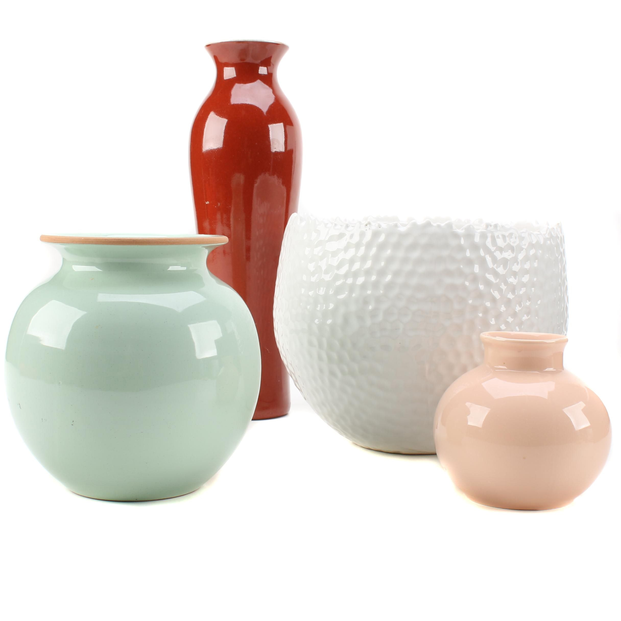 Ceramic Vases and a Planter