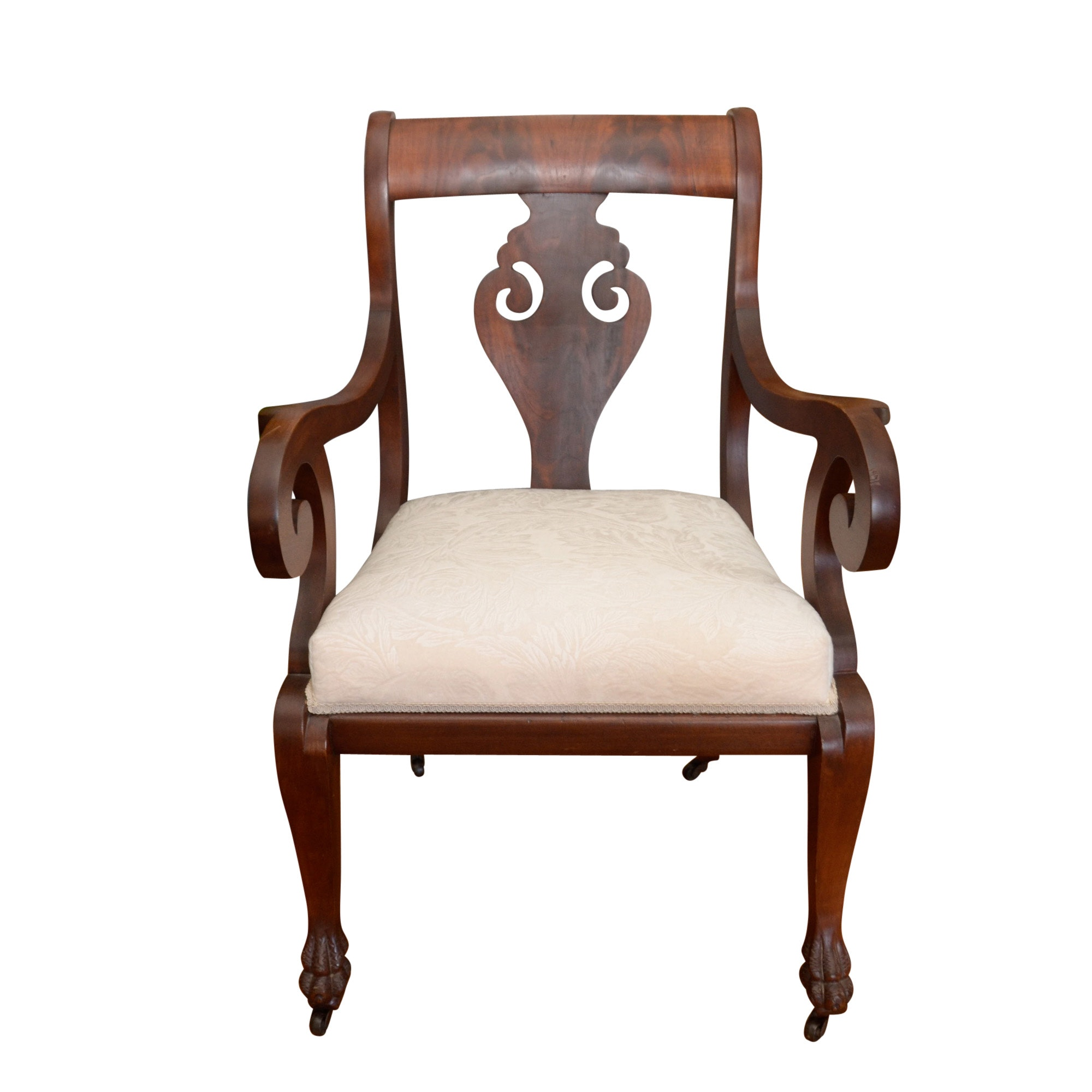 Vintage Regency Style Mahogany Armchair by Shaw's Carpet , Inc.