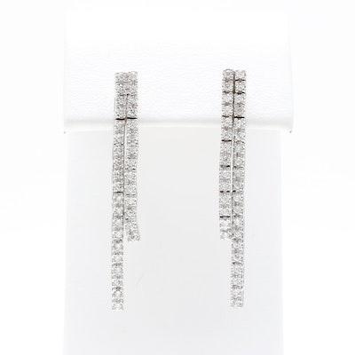 1de98d90cd2 14K White Gold Diamond Earrings