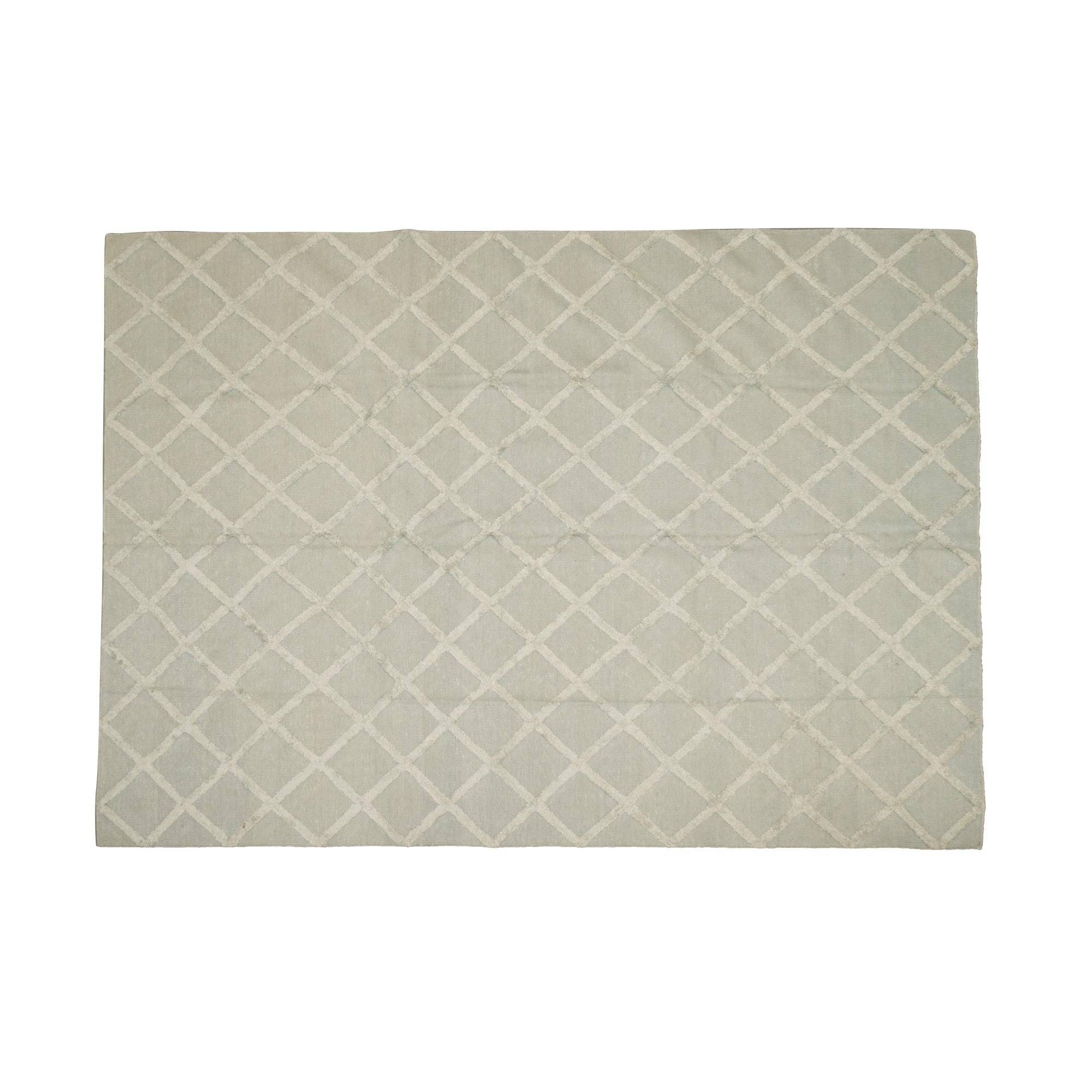 Handwoven Contemporary Textured Silk Area Rug