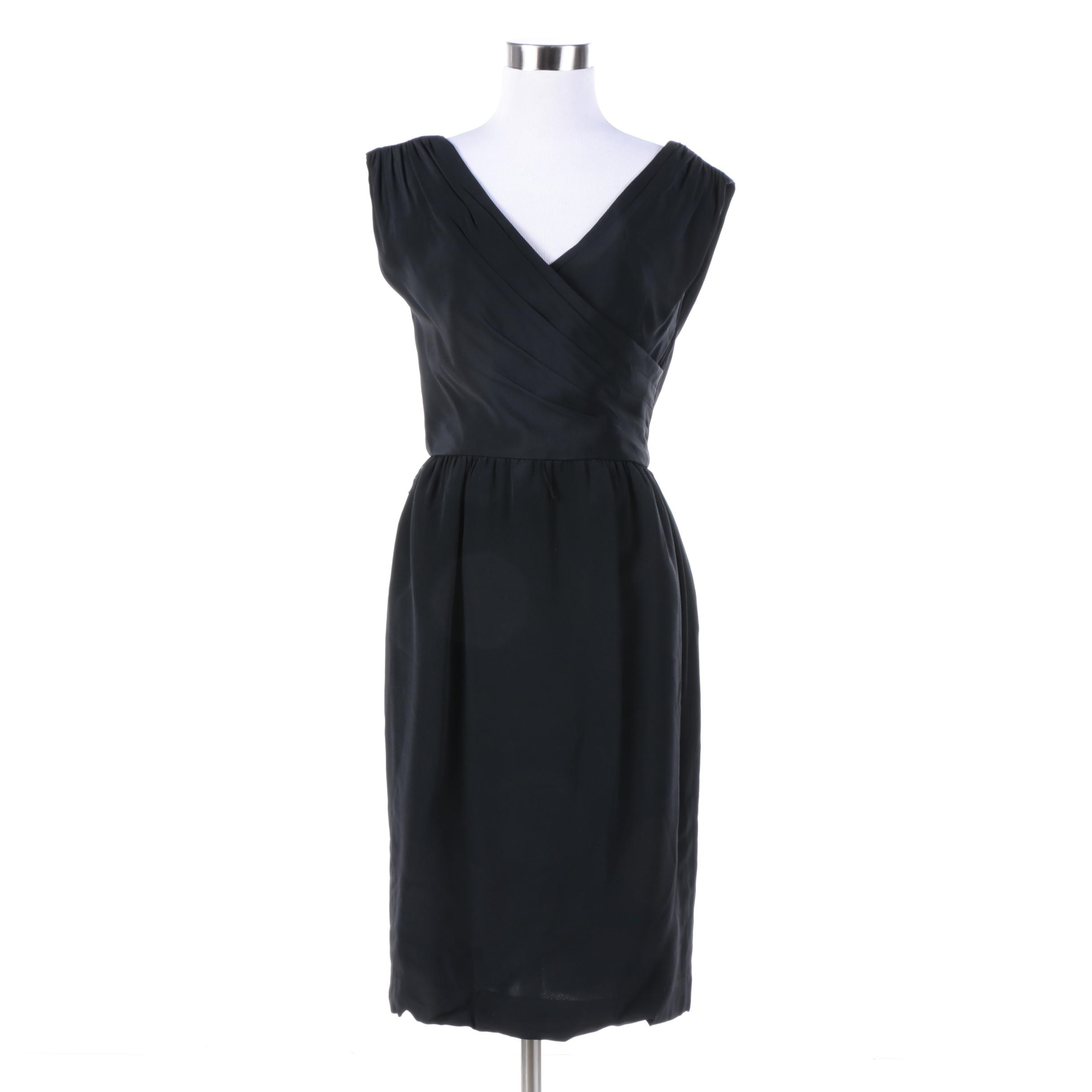 Vintage Liz Claiborne Black Cocktail Dress