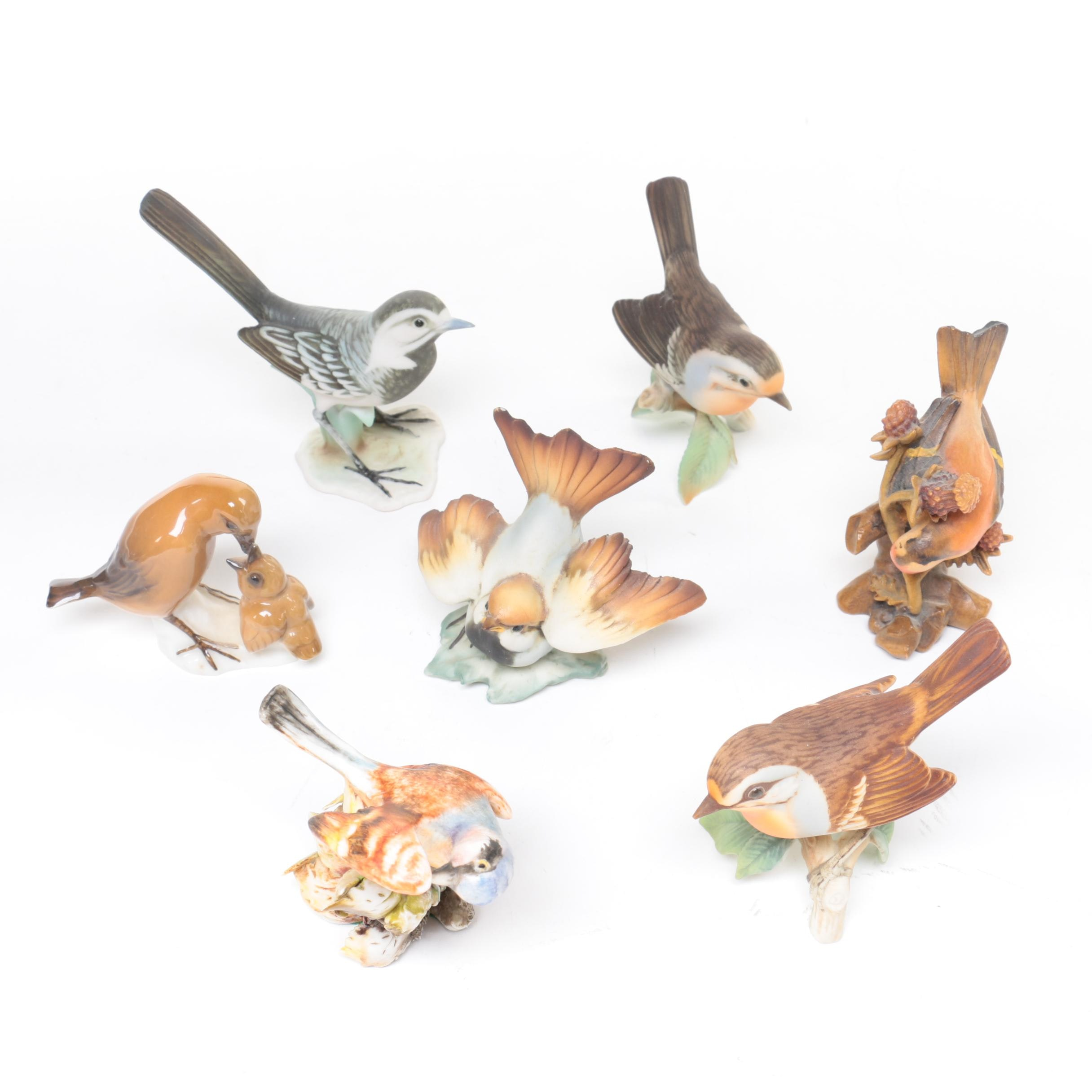 Assortment of Ceramic, Porcelain and Plastic Bird Figurines Including Kaiser