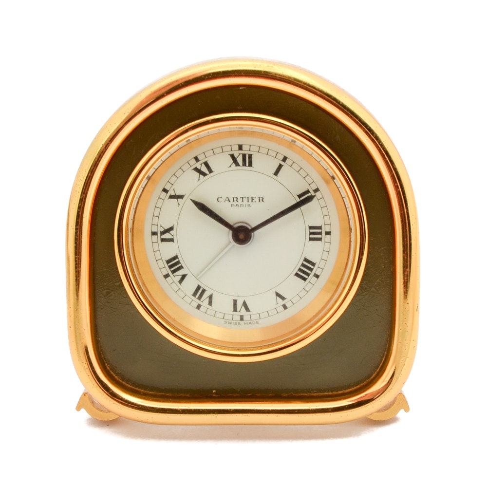 Cartier Desk or Travel Clock