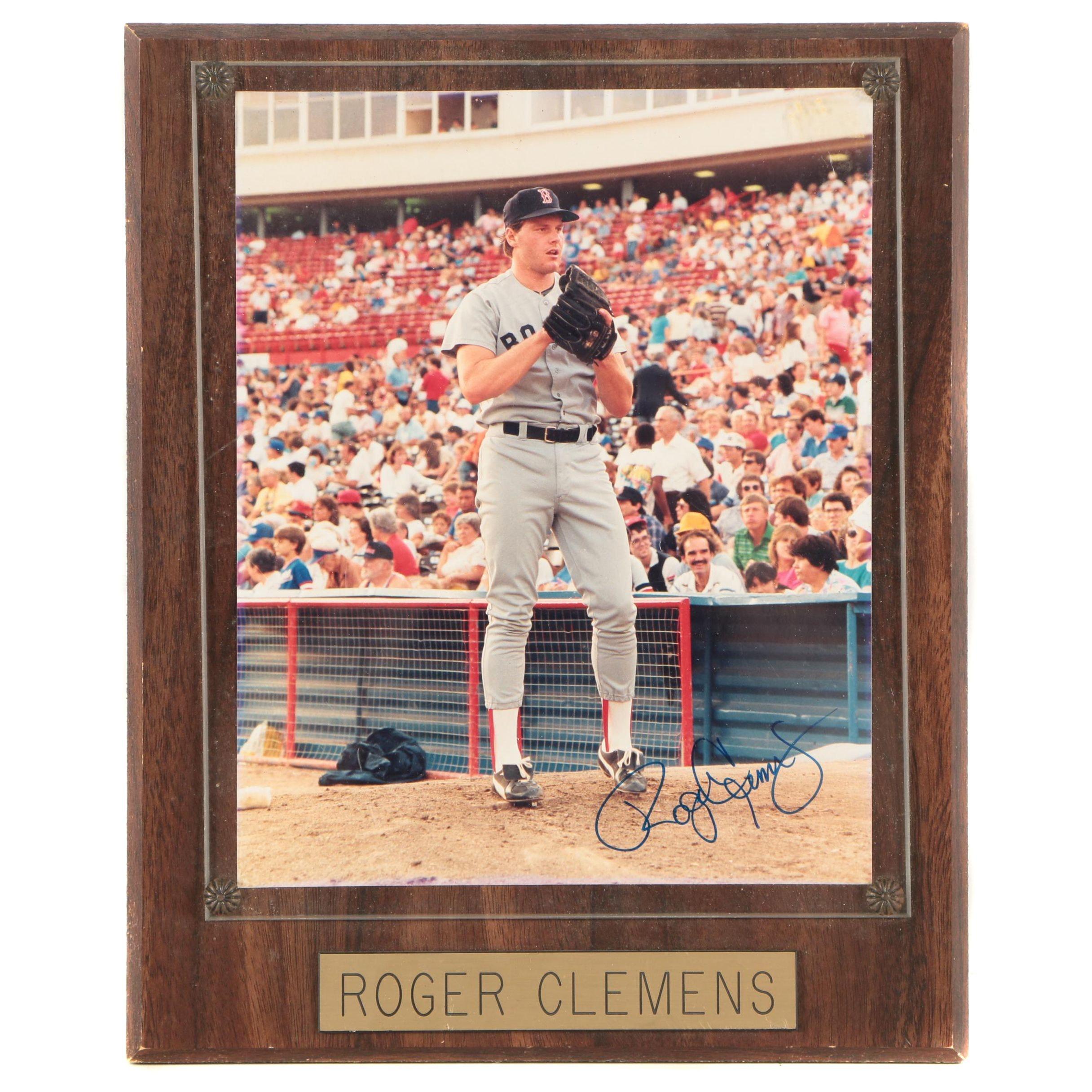 Roger Clemens Autographed Color Photograph