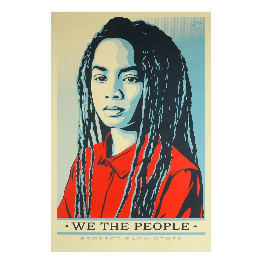 "Shepard Fairey Offset Poster ""We the People: Protect Each Other"""