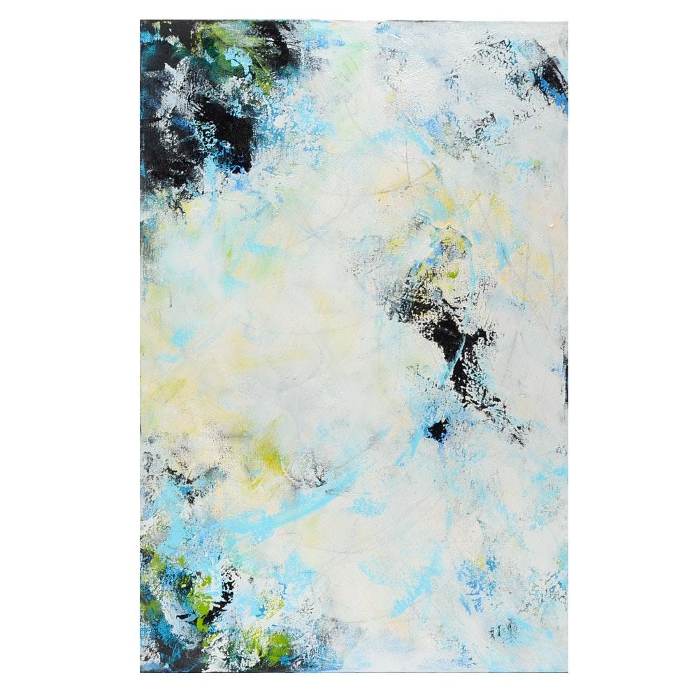 "Sanna Acrylic Painting on Canvas ""Greening of Spring"""