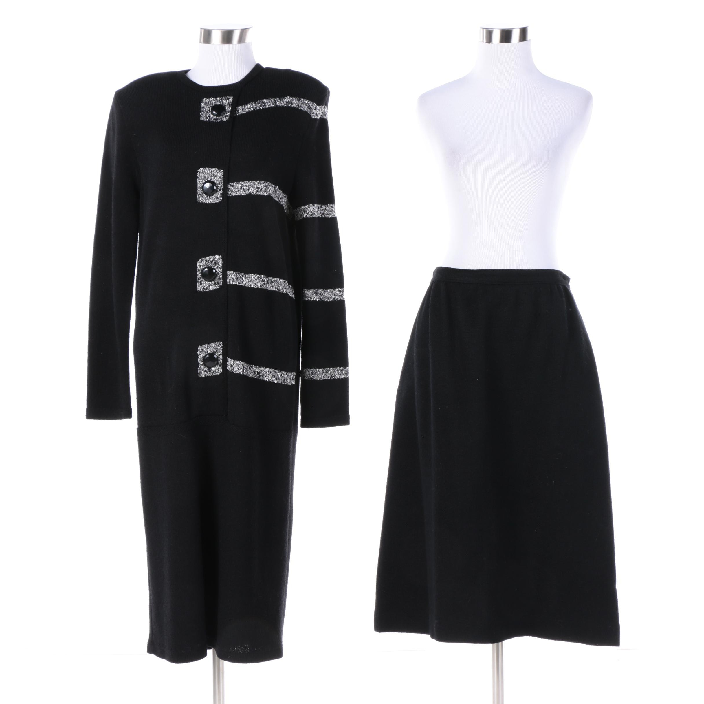 Women's Vintage Knit Dress and Wool Skirt Including Mike Korwin