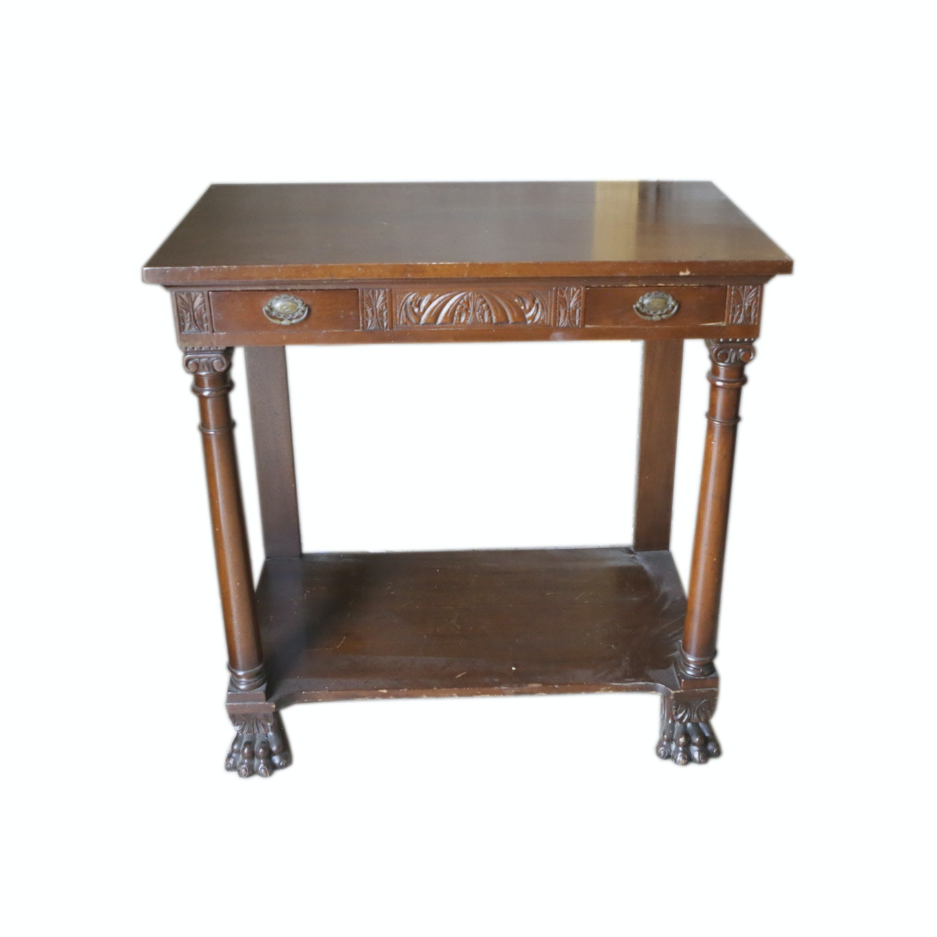 Antique Empire Style Serving Table