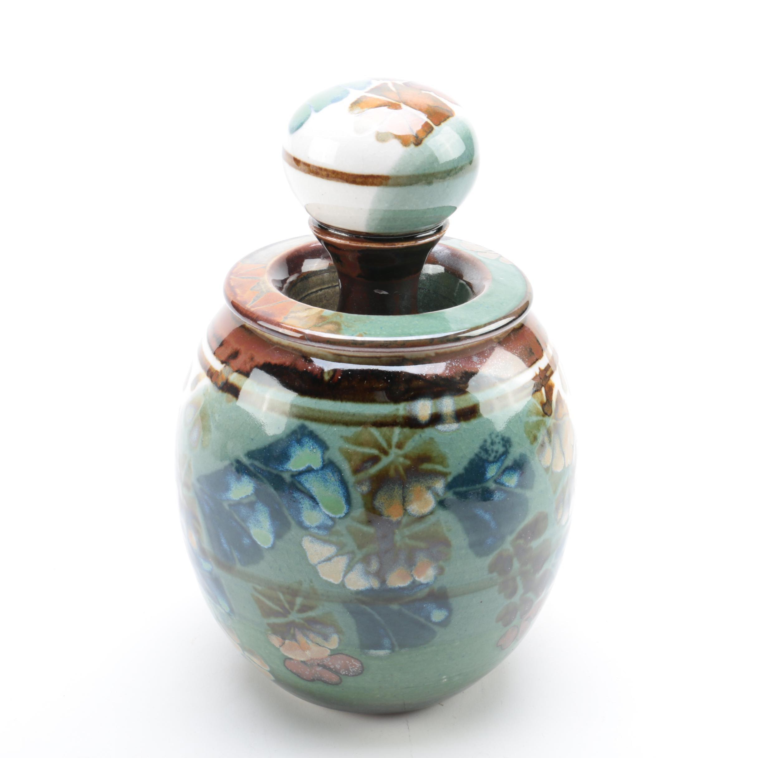 Apple Lane Pottery Signed Bill Nagengast Studio Pottery Jar