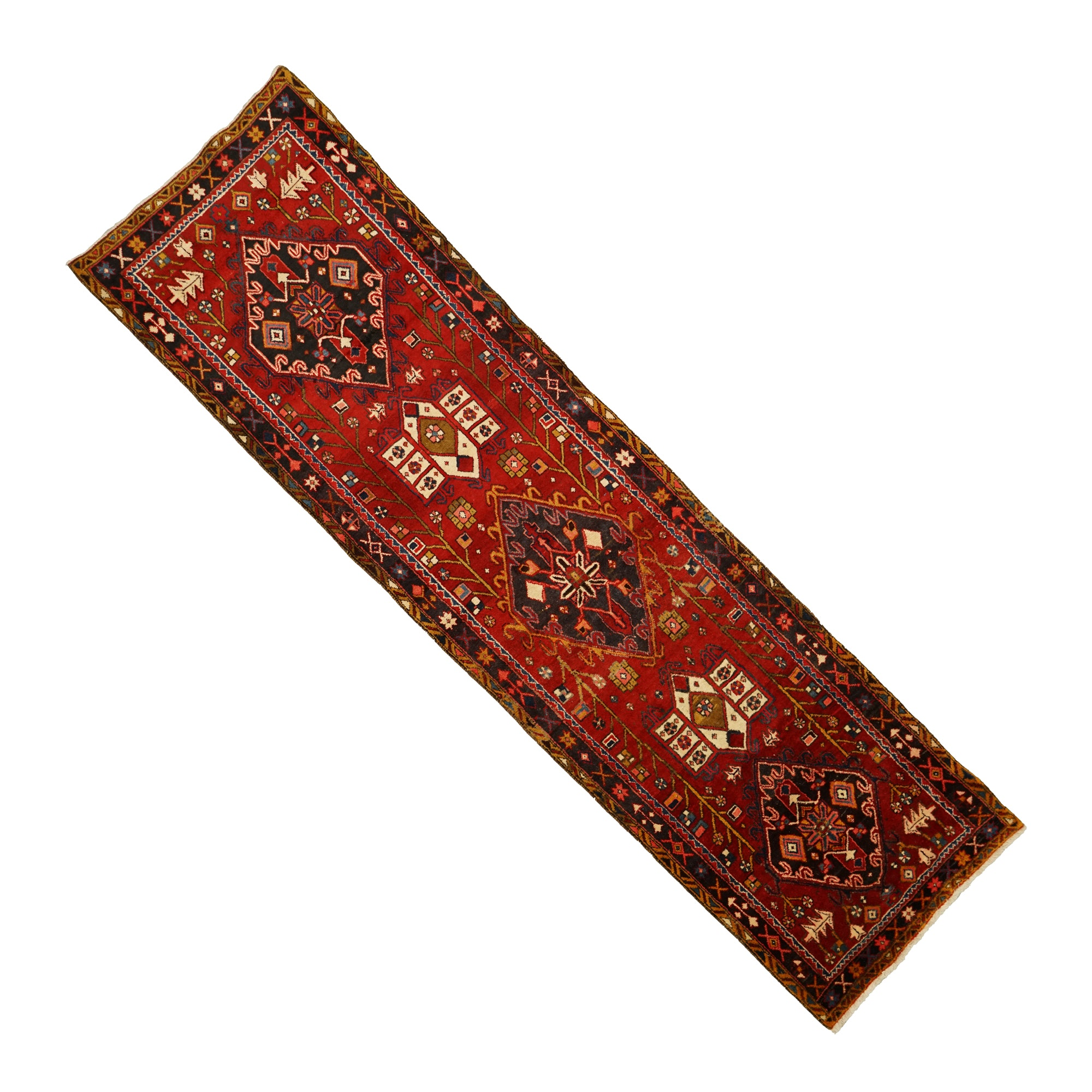 Hand-Knotted Persian Carpet Runner