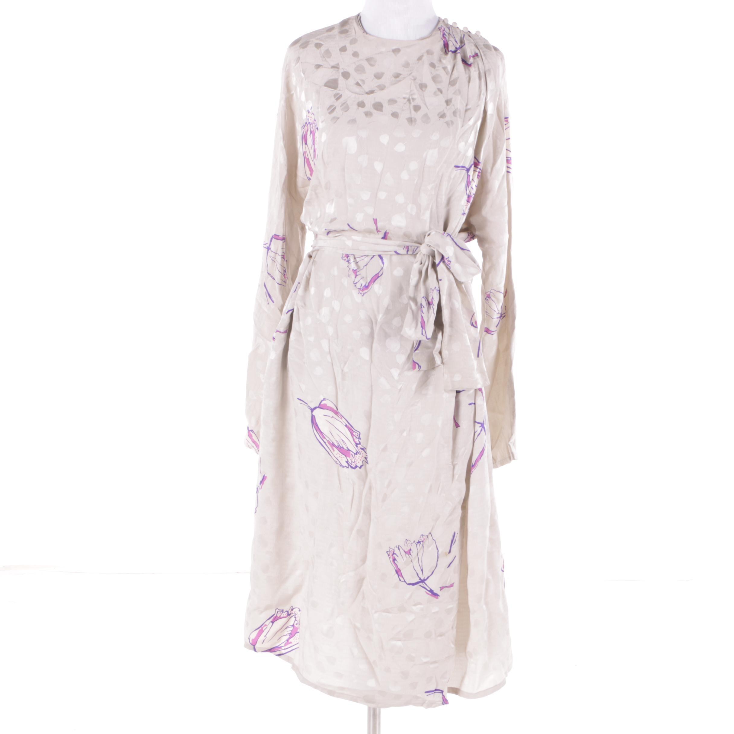 Vintage Francesca of Damon Silk Dress
