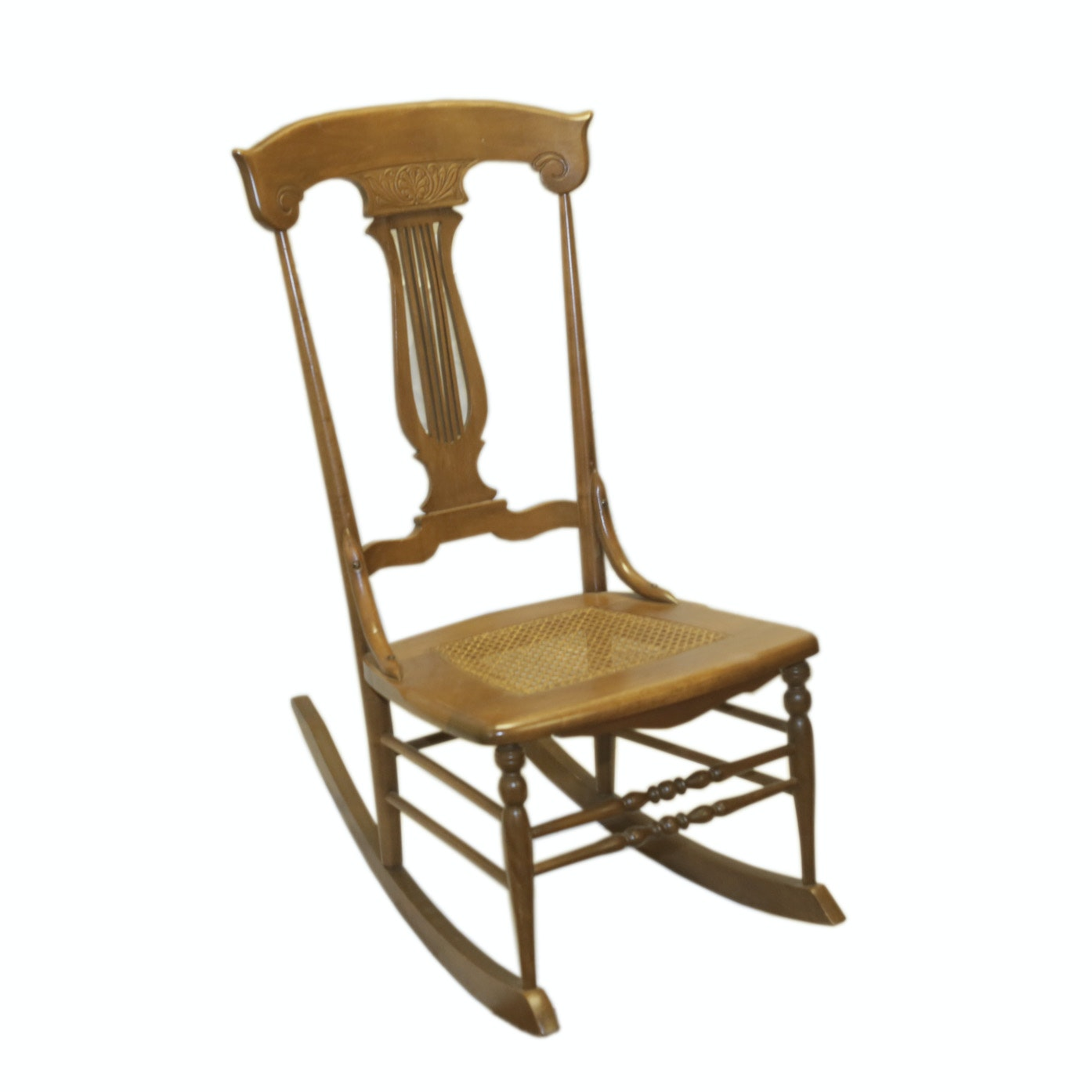 Cane Seat Rocking Chair