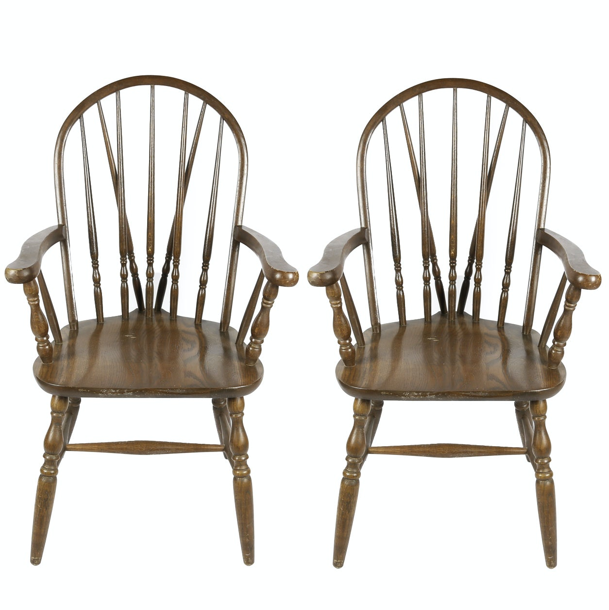 Vintage Bow Back Windsor Chairs by Whitewood Trading Co.