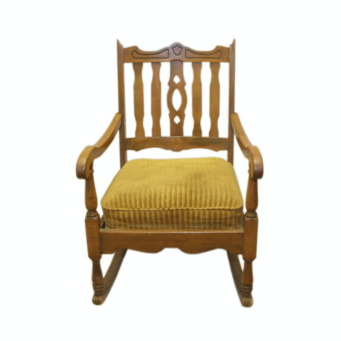 Vintage Slat Back Rocking Chair