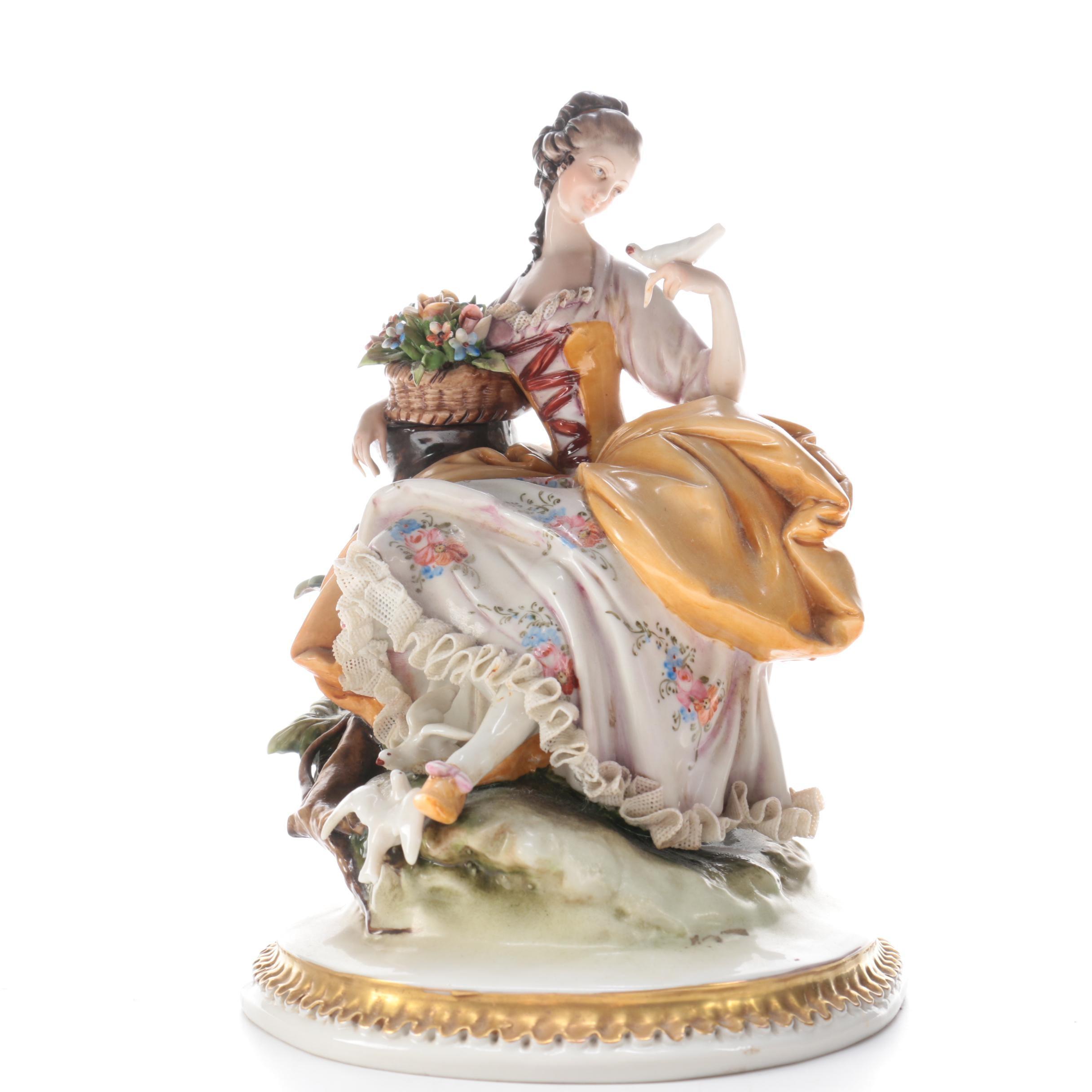 Works of Art Italian Porcelain Figurine