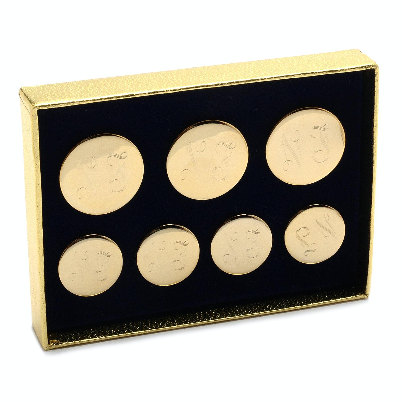 Monogrammed Brass Buttons