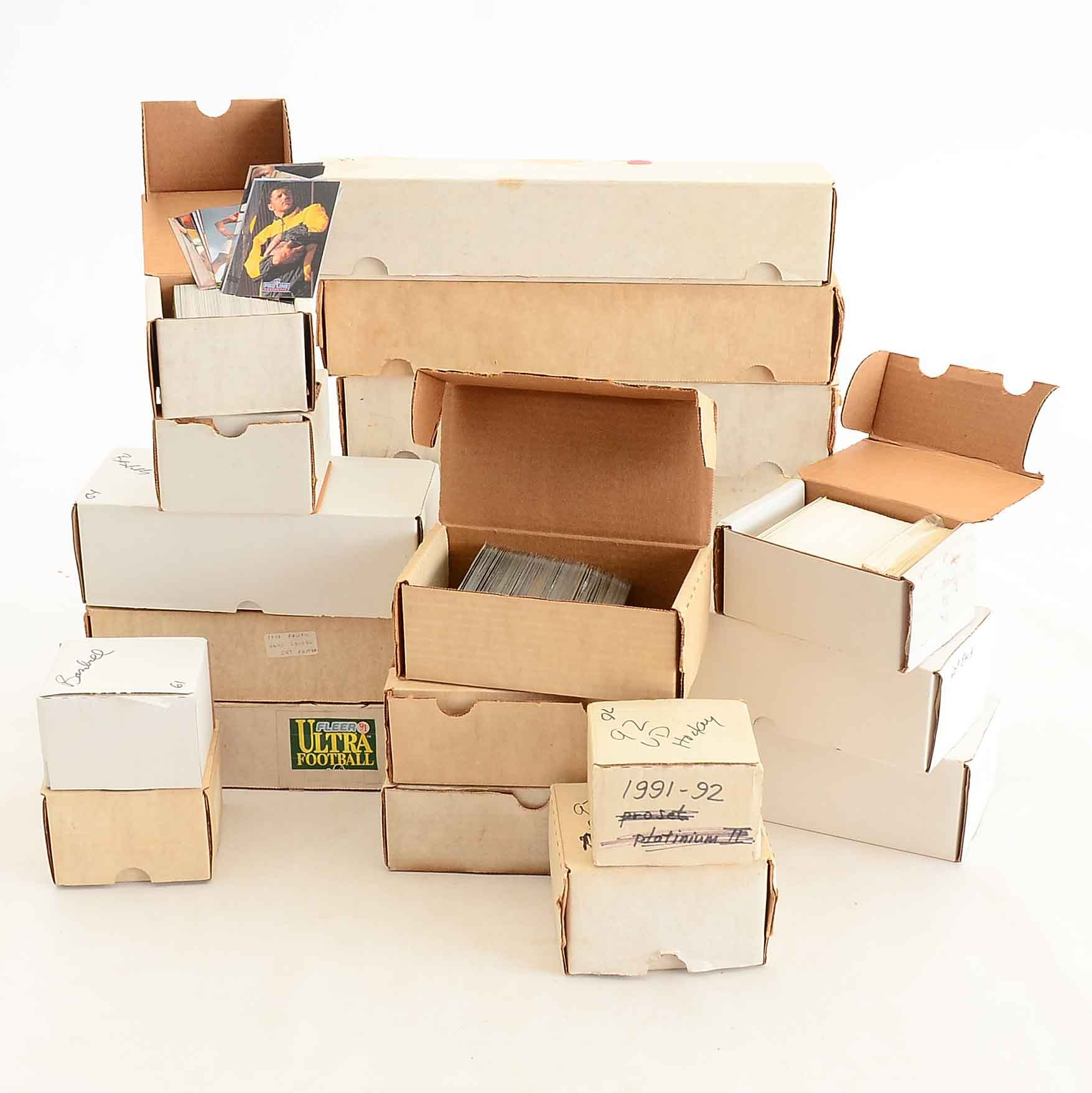 Multiple Boxes of Sports Cards