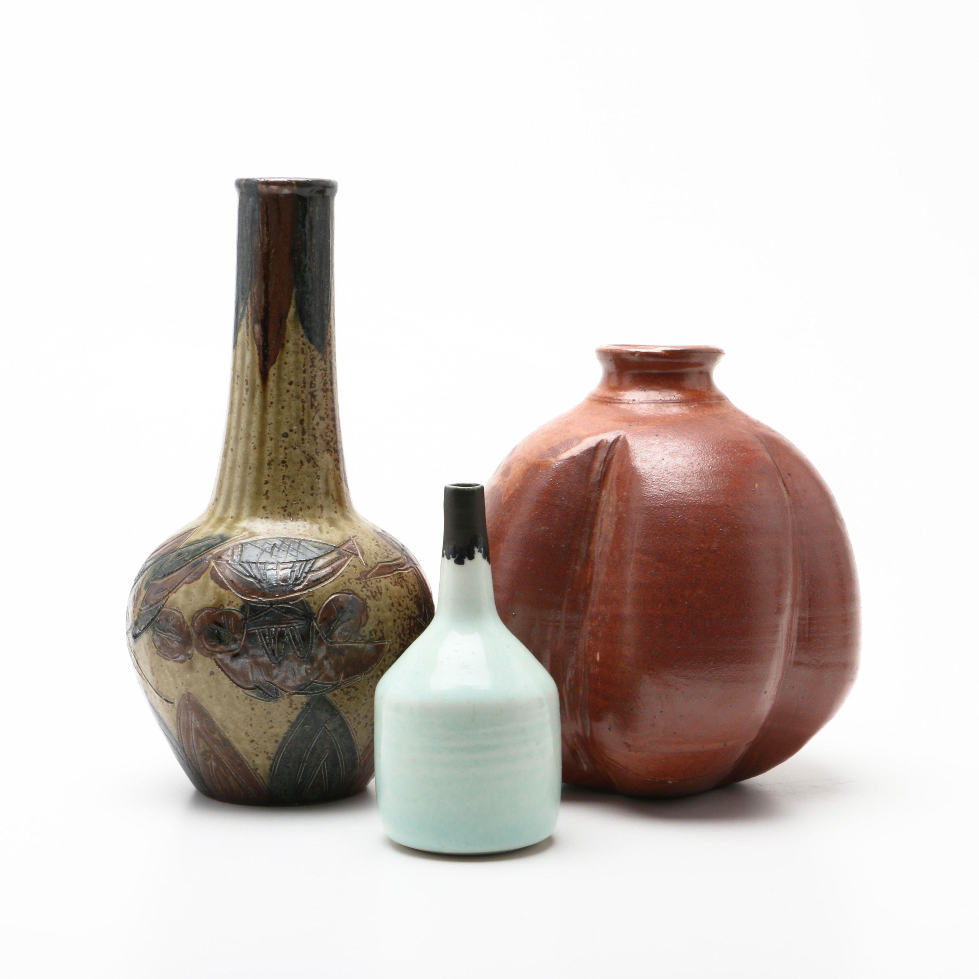Wheel Thrown Stoneware and Porcelain Vases