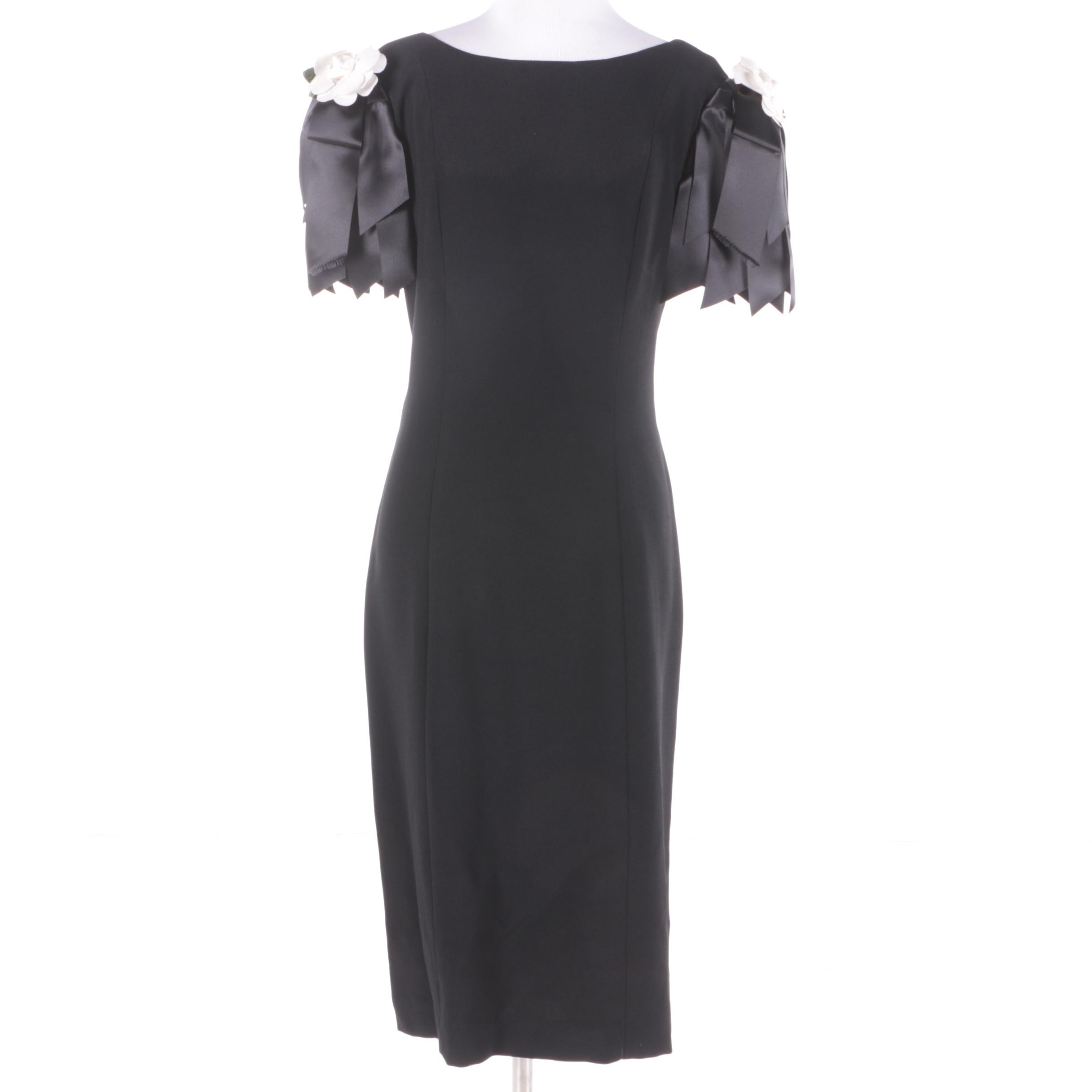 Vintage Victor Costa Black Cocktail Dress