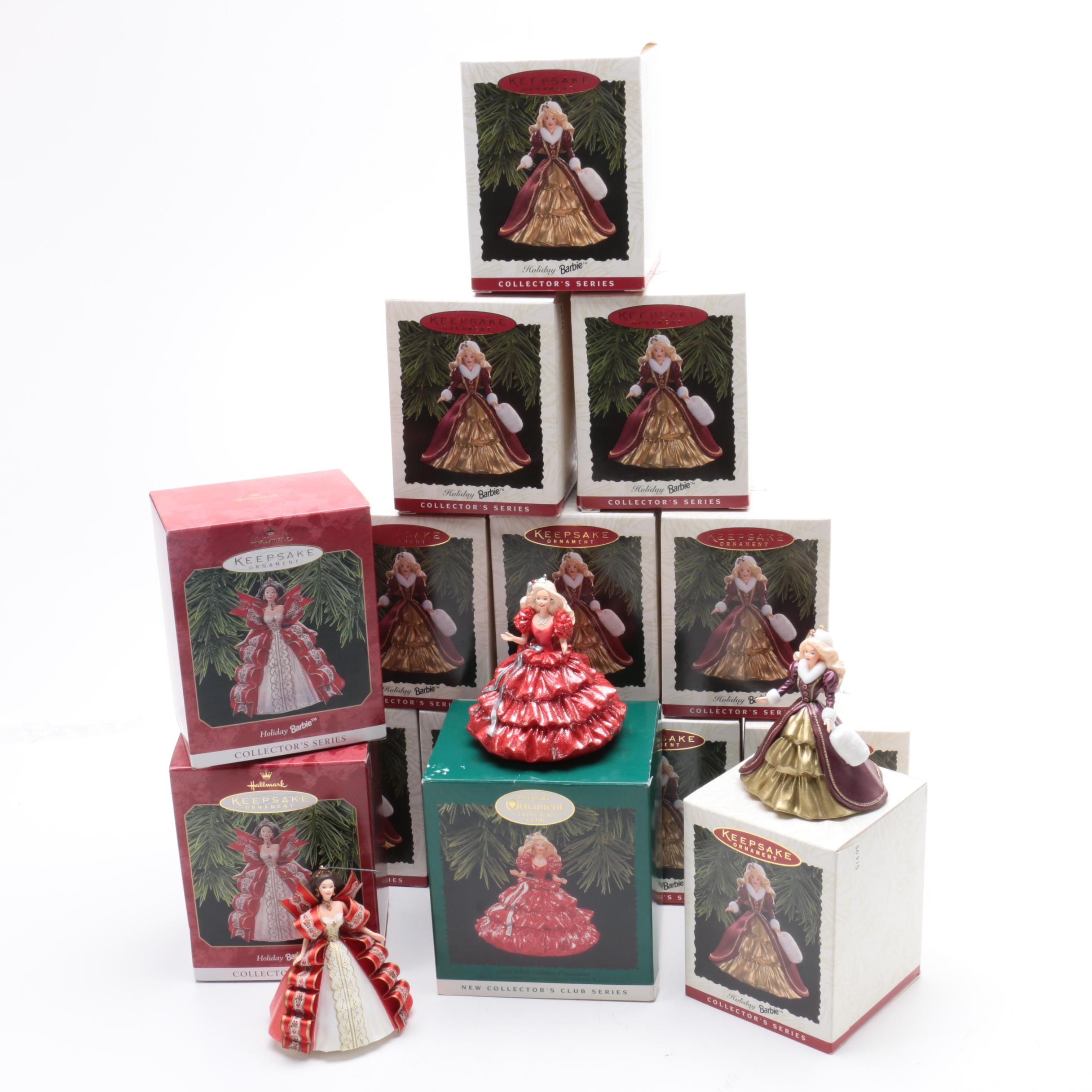 Handcrafted Holiday Barbie Keepsake Ornaments