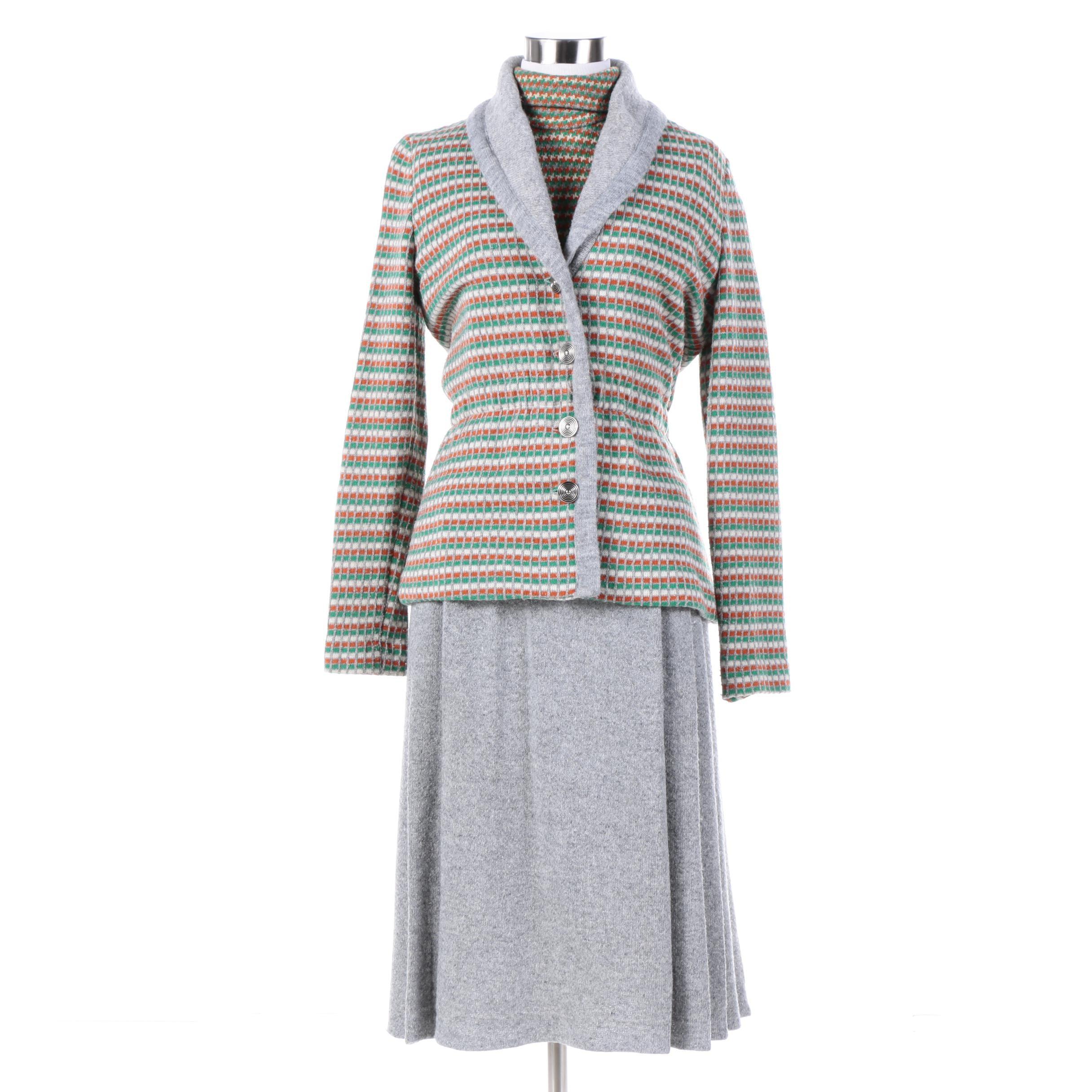 Women S Vintage Morton Miles For Smith And Jones Knit Dress Suit Ebth