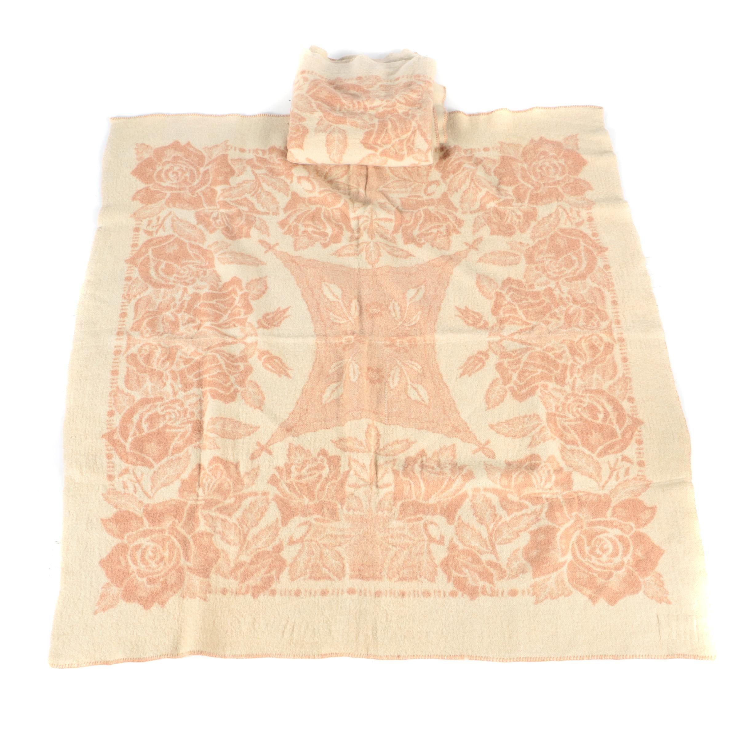 Pair of Vintage Orr Health Wool Blankets by the Orr Felt & Blanket Co.
