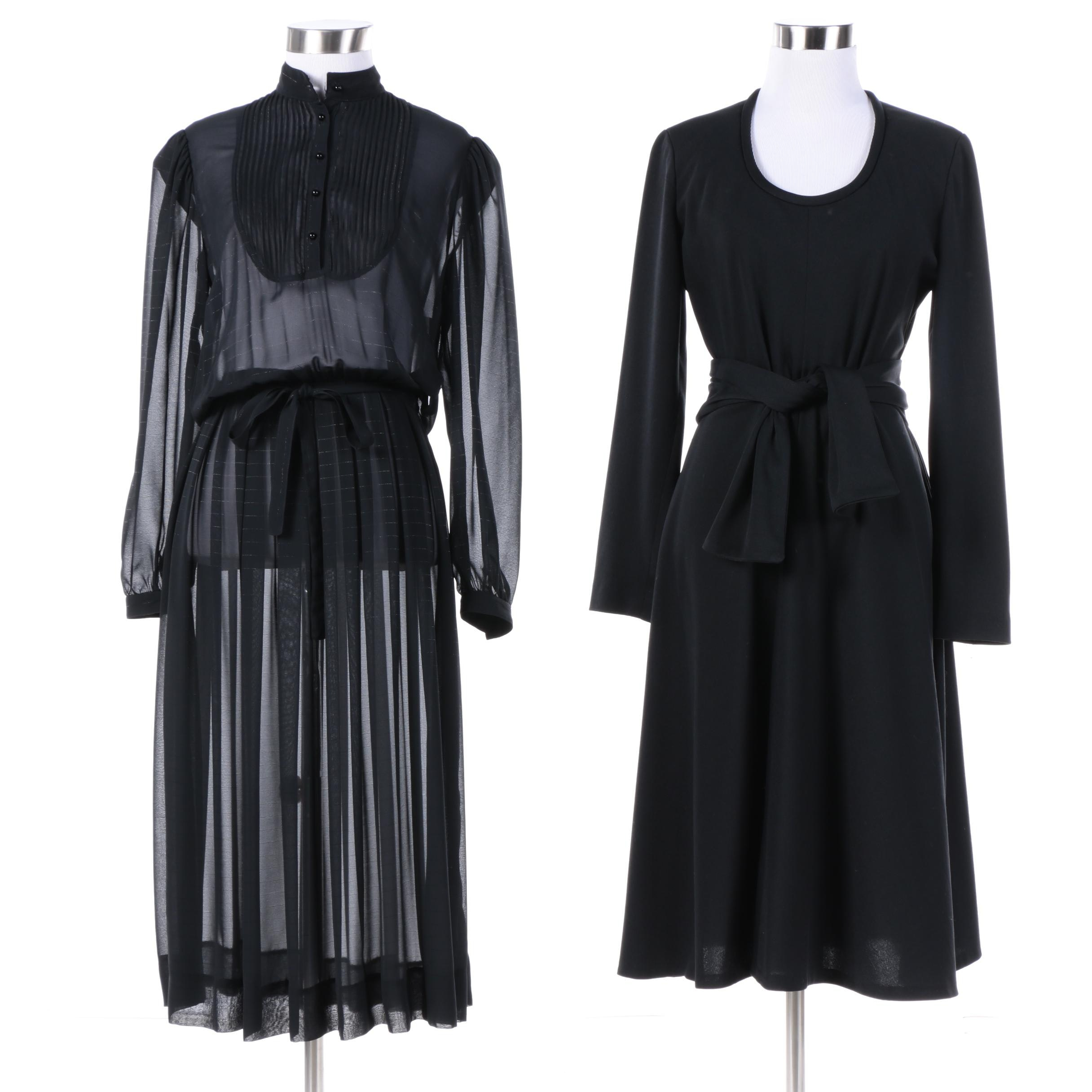 Vintage Nippon Boutique and Romantico Black Dresses