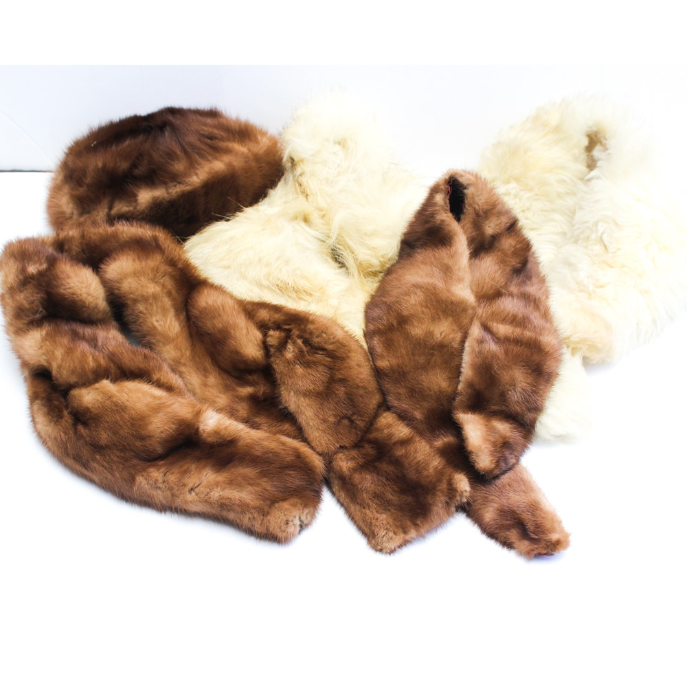 Vintage Fur Accessories Featuring Mink and Fox