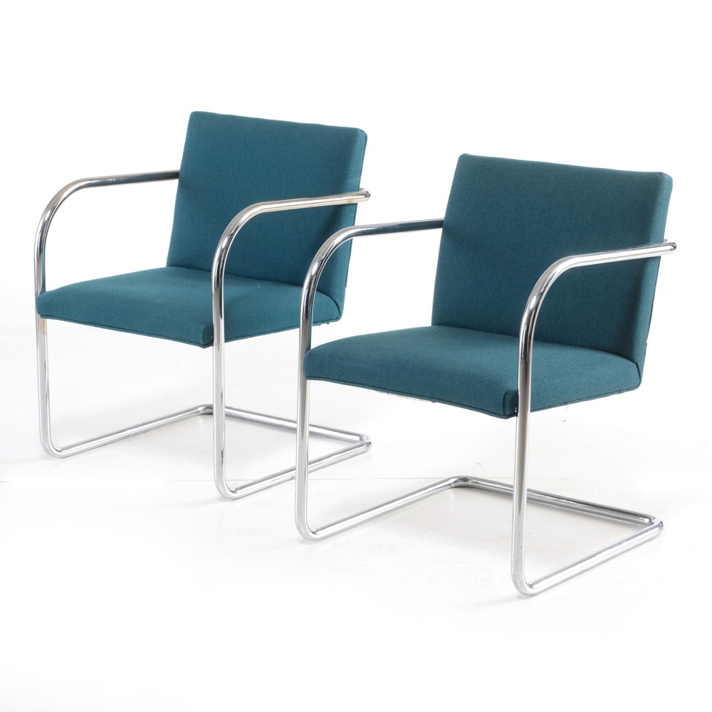 Pair of Cantilevered Arm Chairs by Thonet Industries