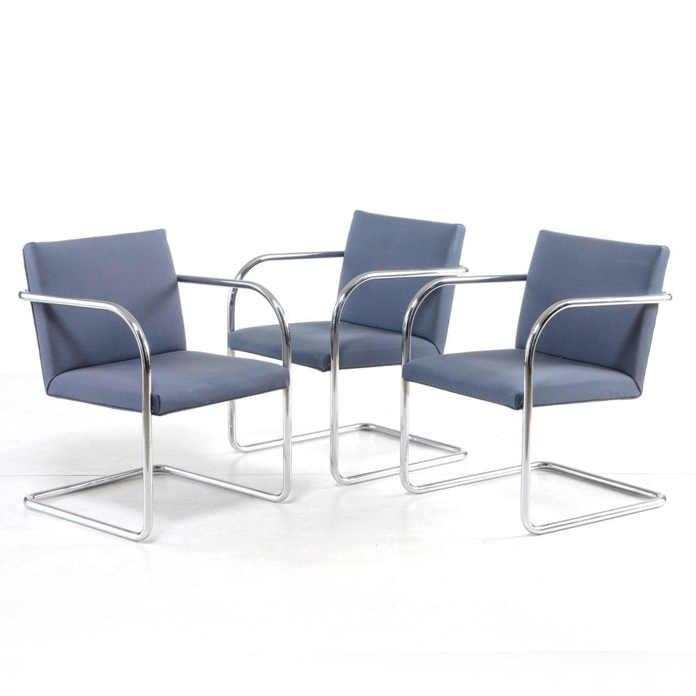 Three Thonet Industries Cantilevered Arm Chairs