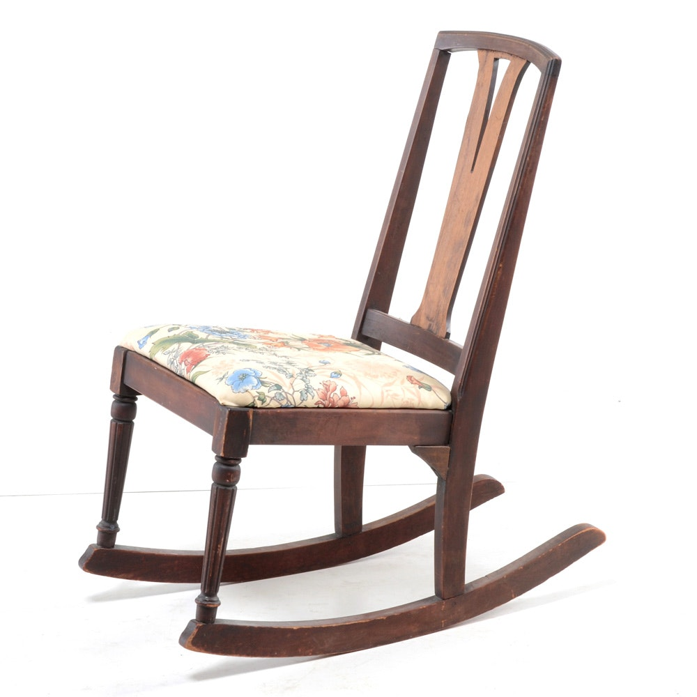 1920s Walnut Rocking Chair