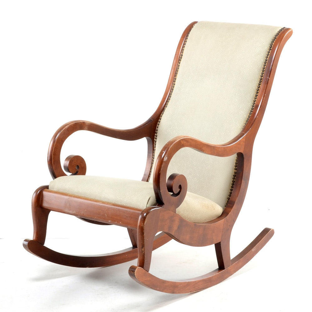 Empire Style Maple Rocking Chair