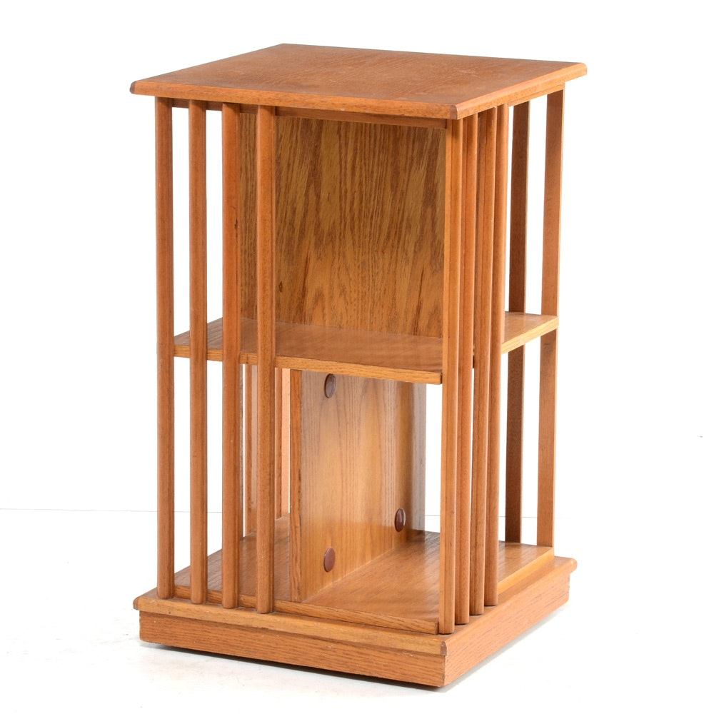 Oak Revolving Book Stand