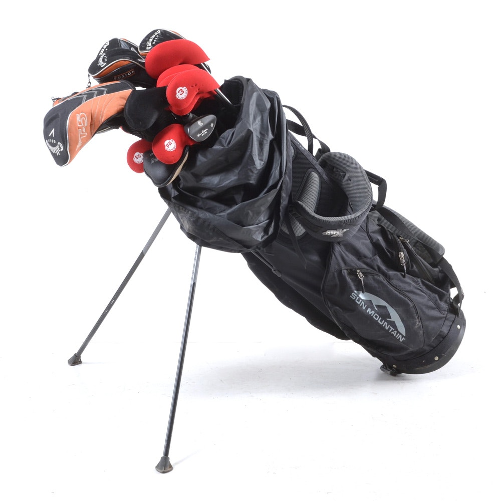 Set of Golf Clubs Including Callaway