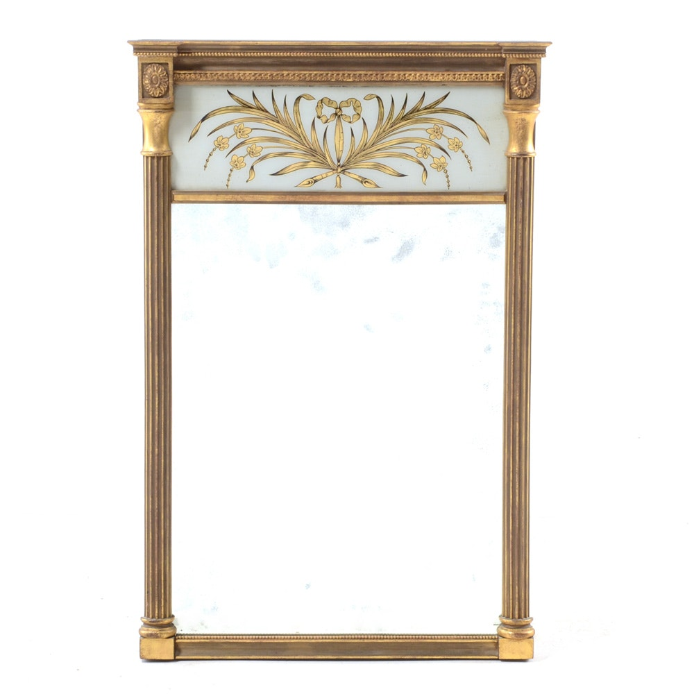 Regency Style Gilt Reverse Painted Mirror