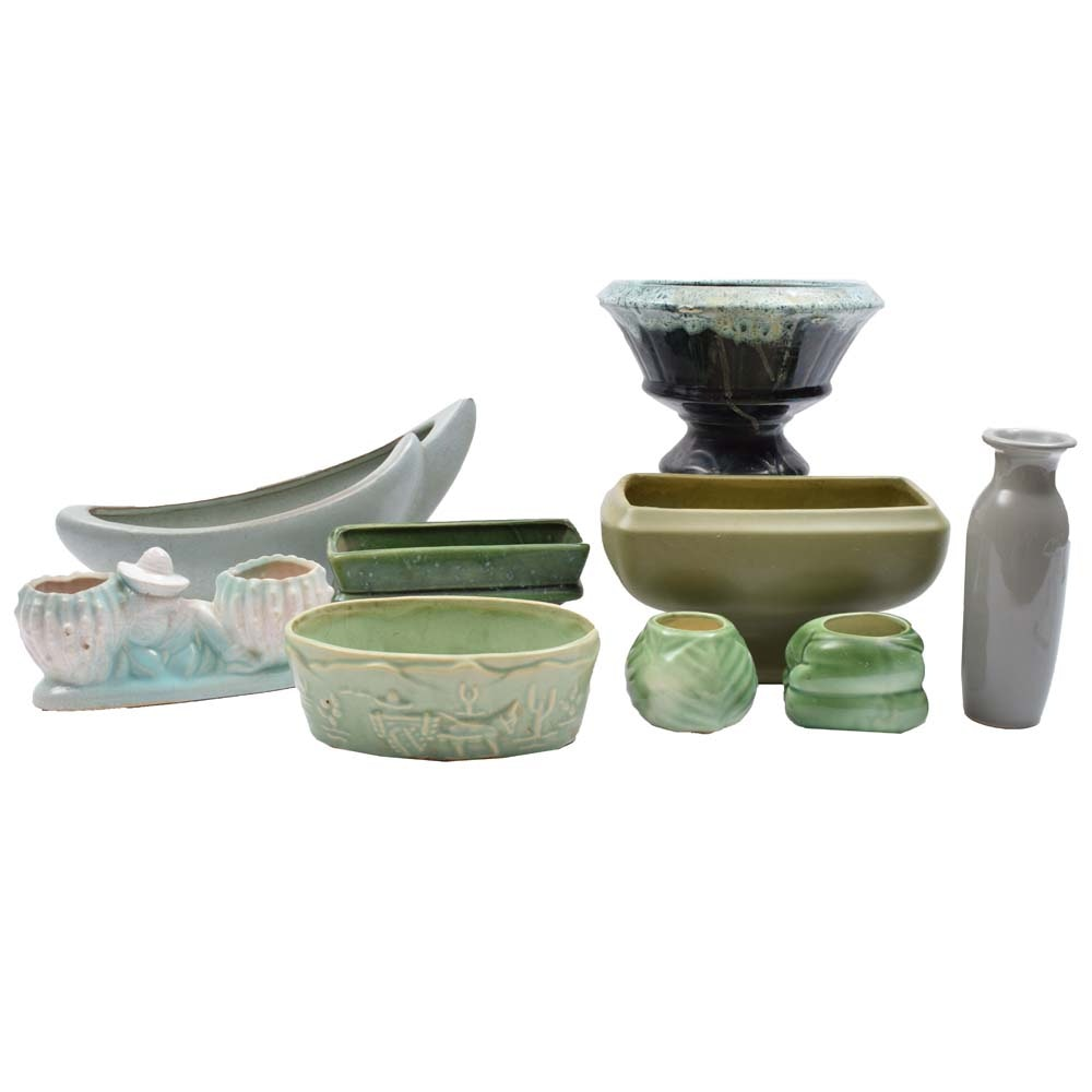 Vintage Ceramic Planters and Vases Featuring Frankoma