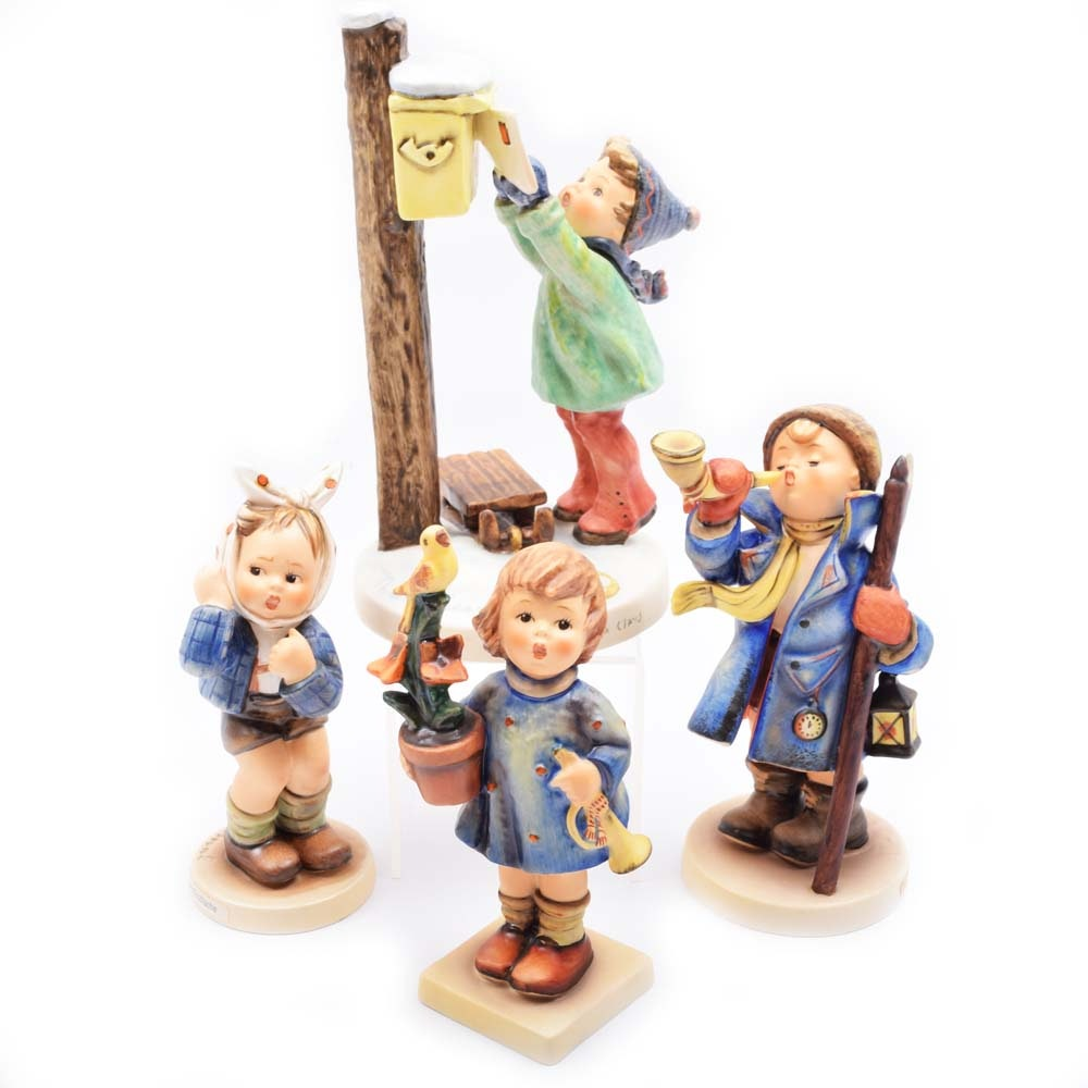 """Goebel Hummel Figurines including """"Letter To Santa Claus"""" and """"Hear Ye Hear Ye"""""""