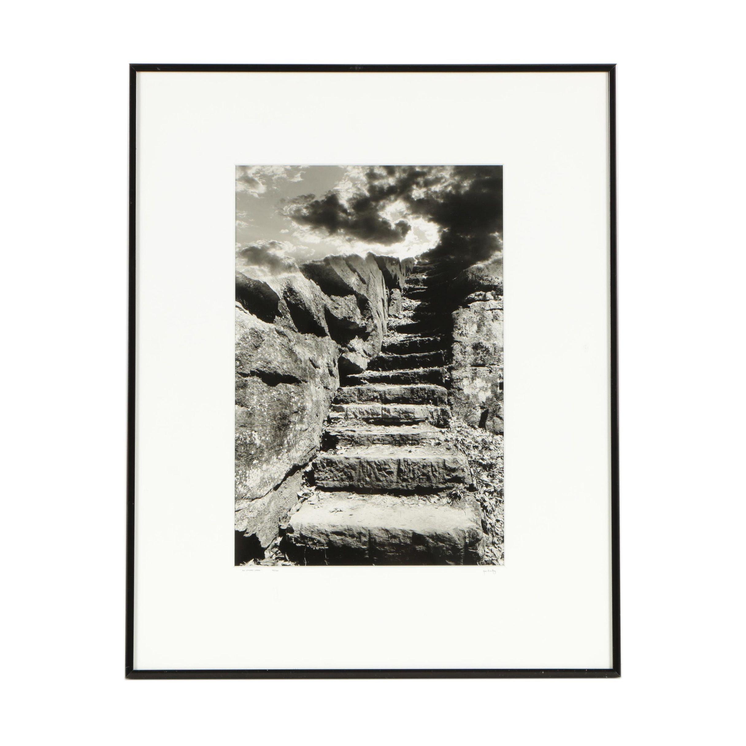 "Ken Bailey Contemporary Black and White Photograph ""The Upward Spiral"""