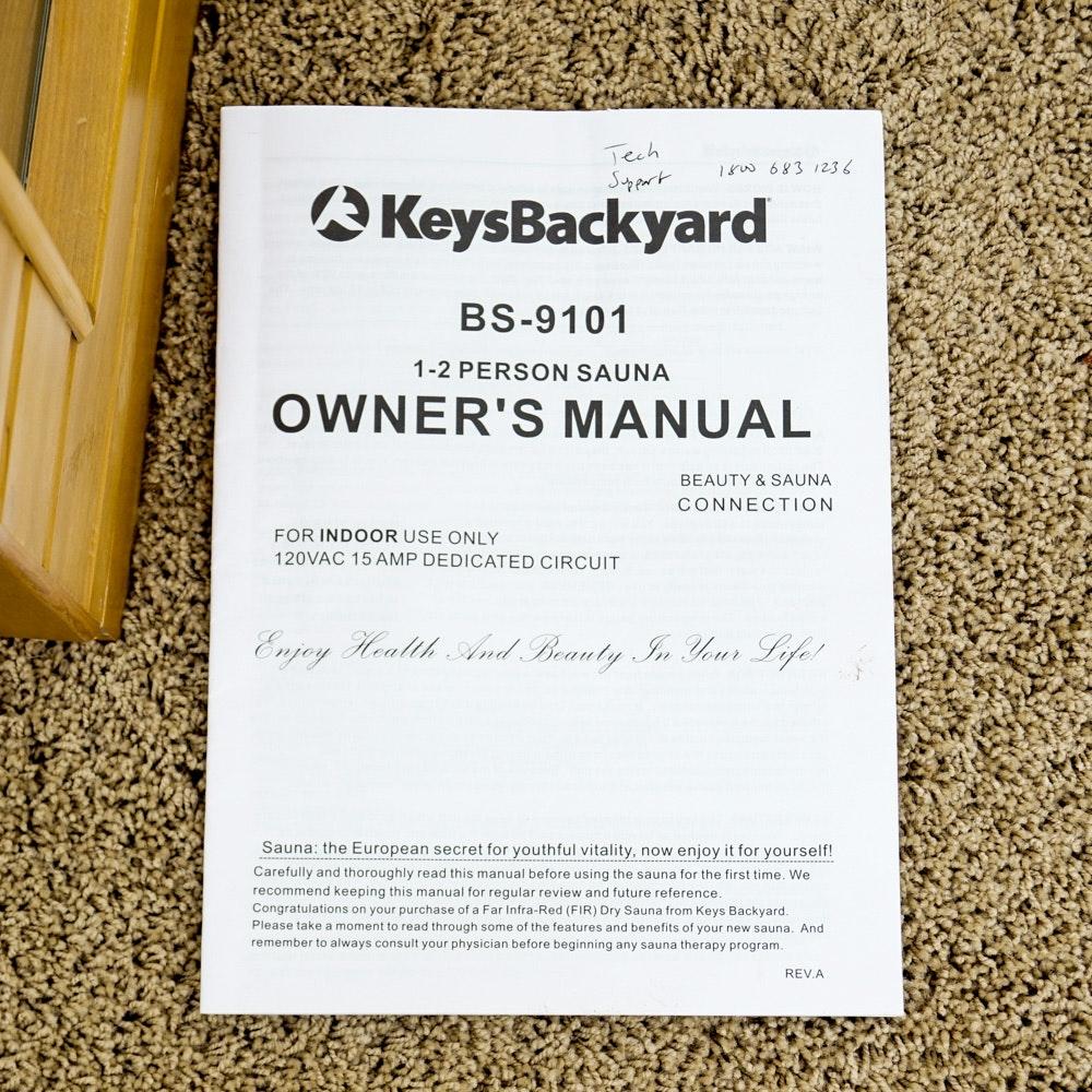 Keys Backyard Infrared Two Person Indoor Sauna   EBTH