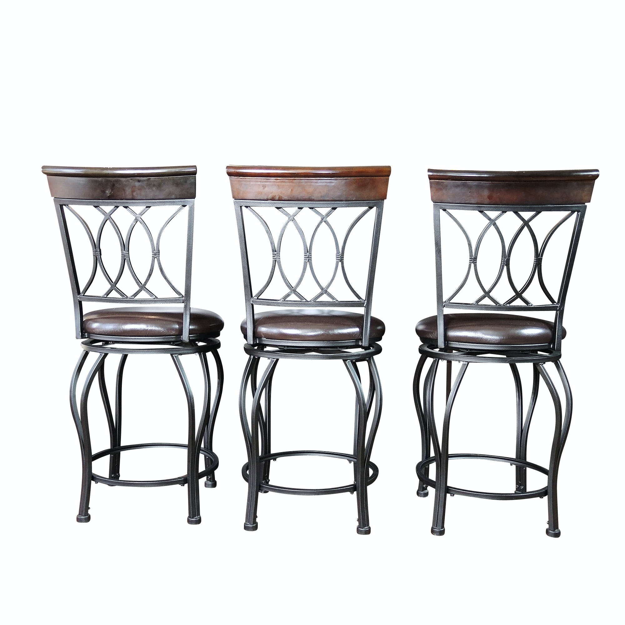 Swivel Counter Stool Set with Height Adjust