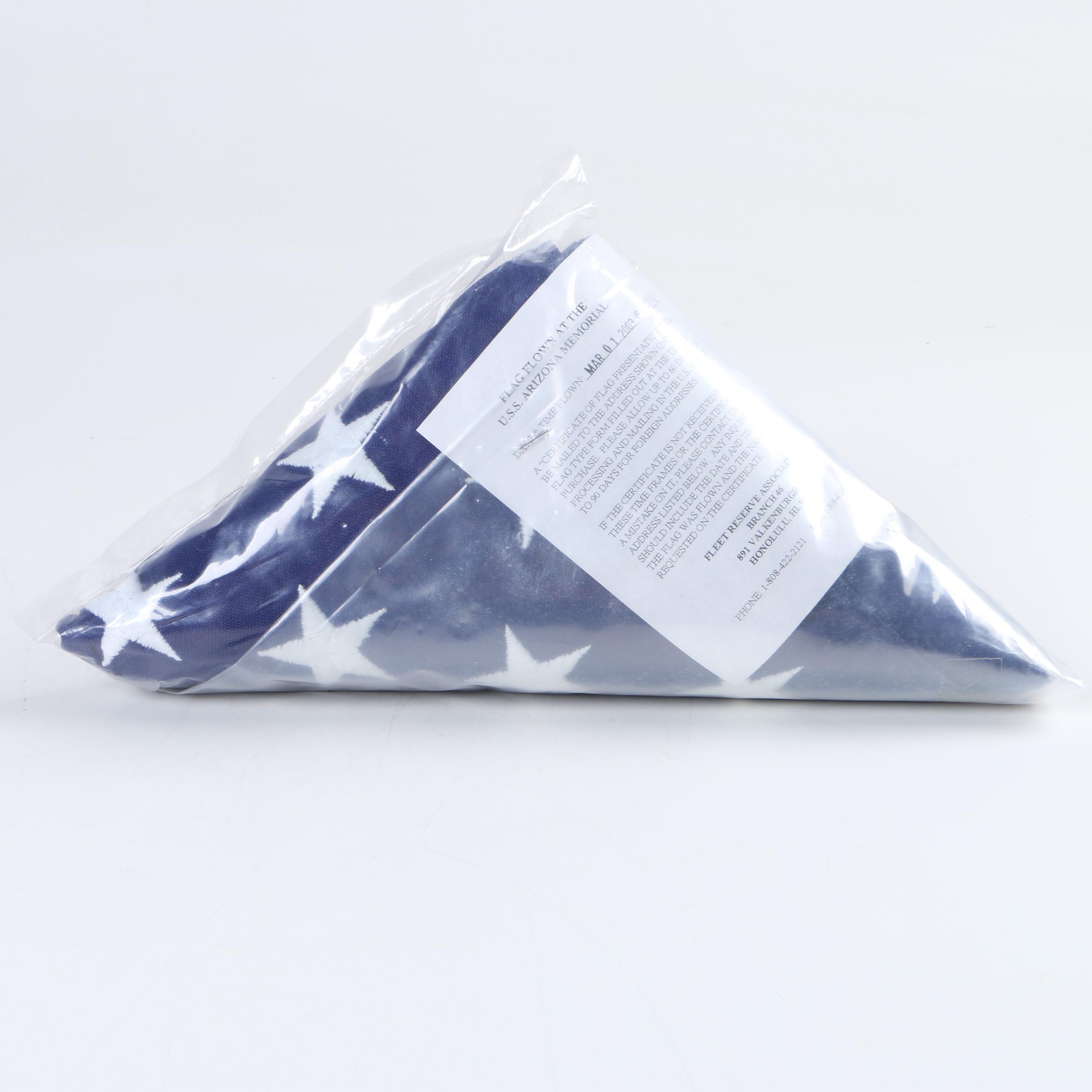 United States Flag Flown at the U.S.S. Arizona Memorial