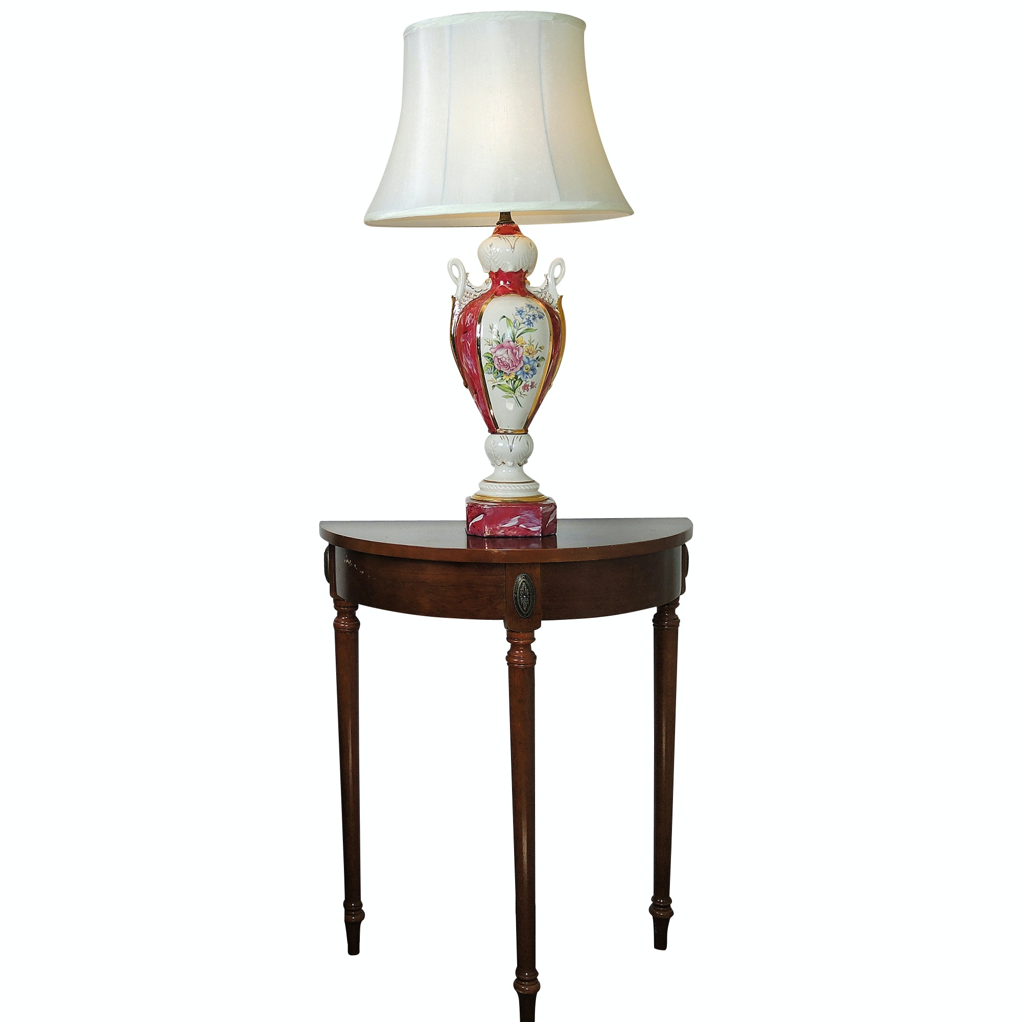 Bombay Demilune Table and Lamp