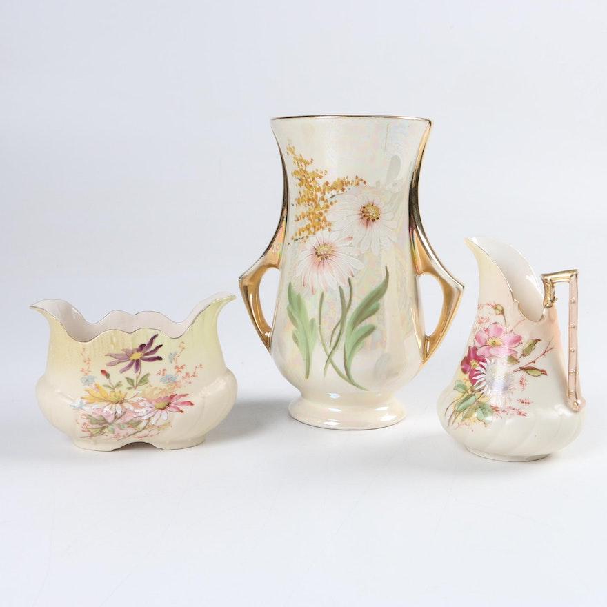 Vintage Porcelain Vase Creamer And Open Sugar Bowl Ebth